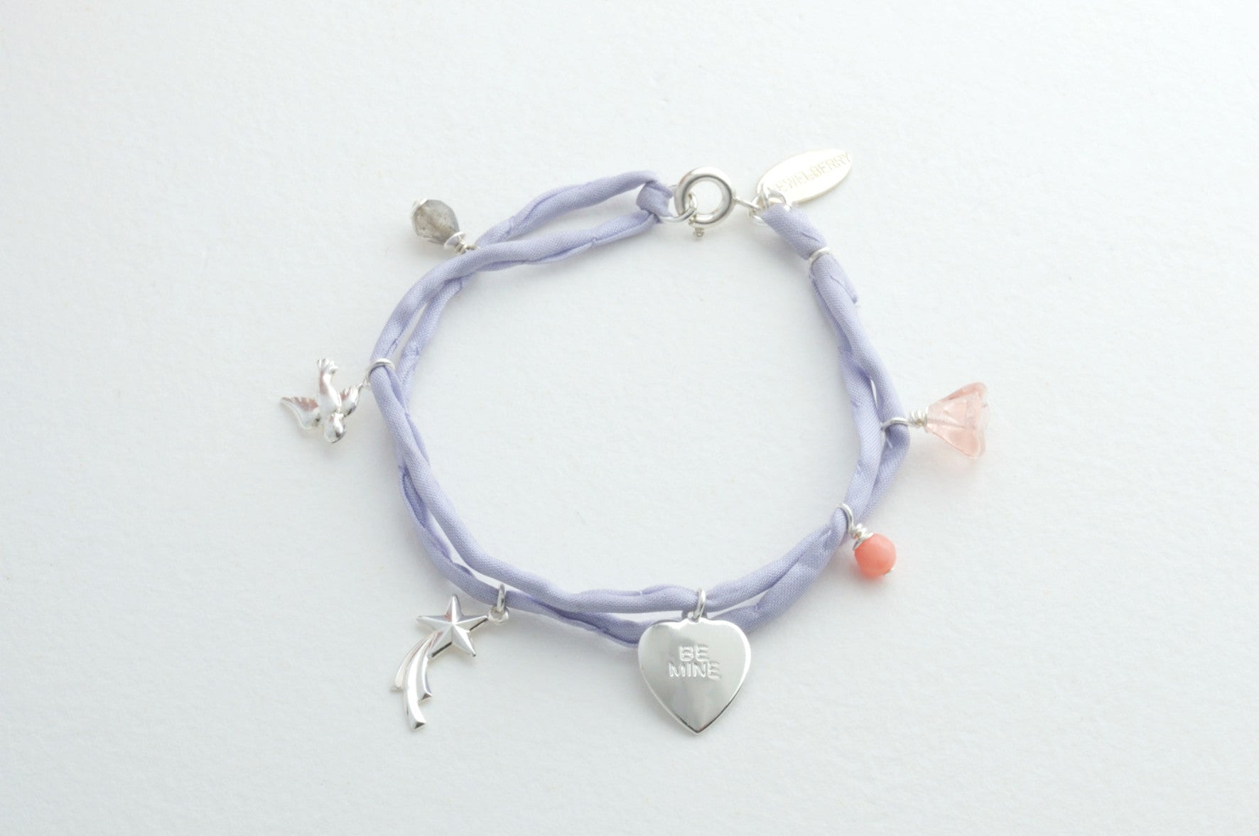 Armband Silk BIRD RISING STAR BE MINE versilbert
