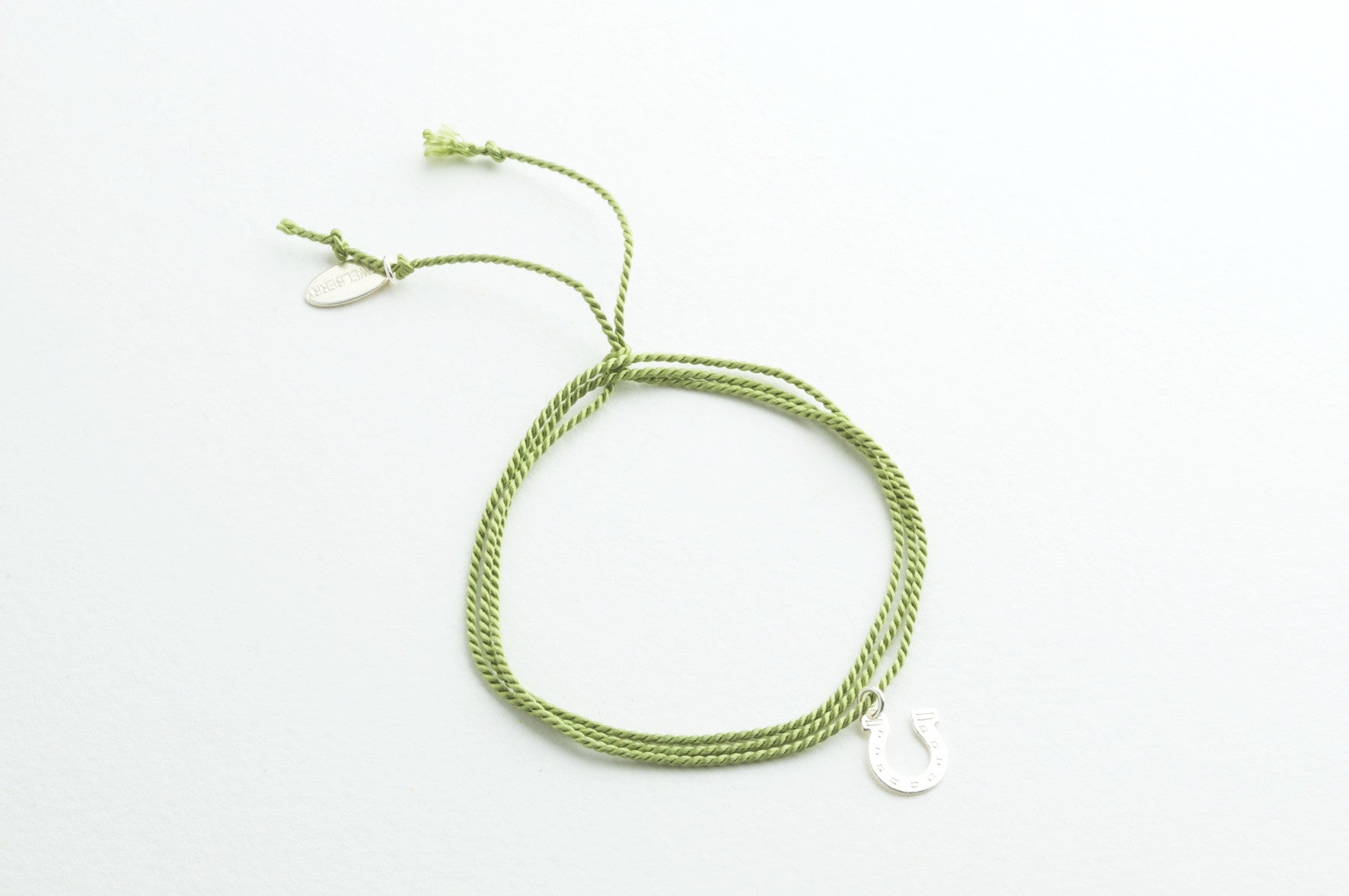 Small Silk Green versilbert