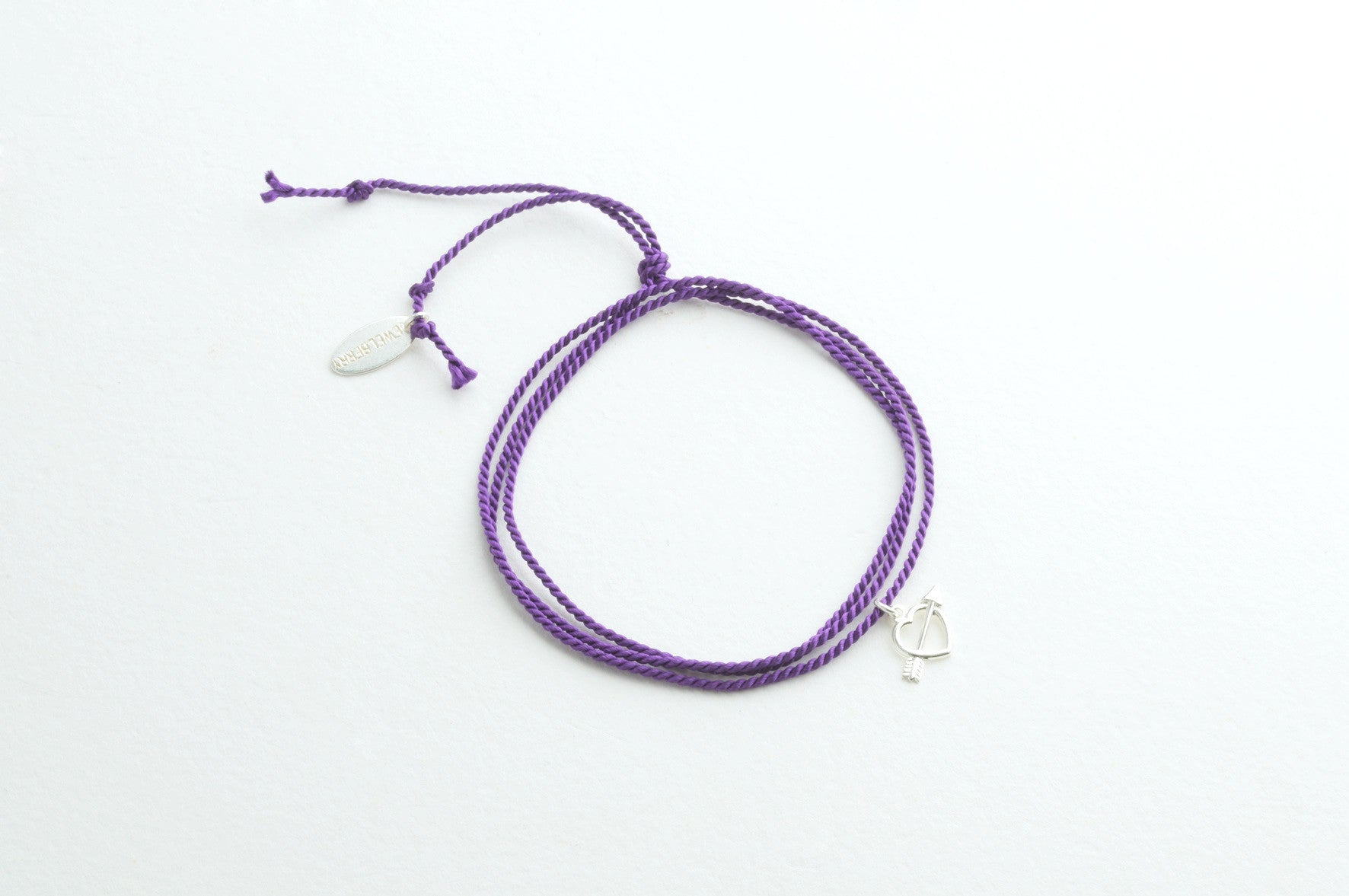 Small Silk Purple versilbert