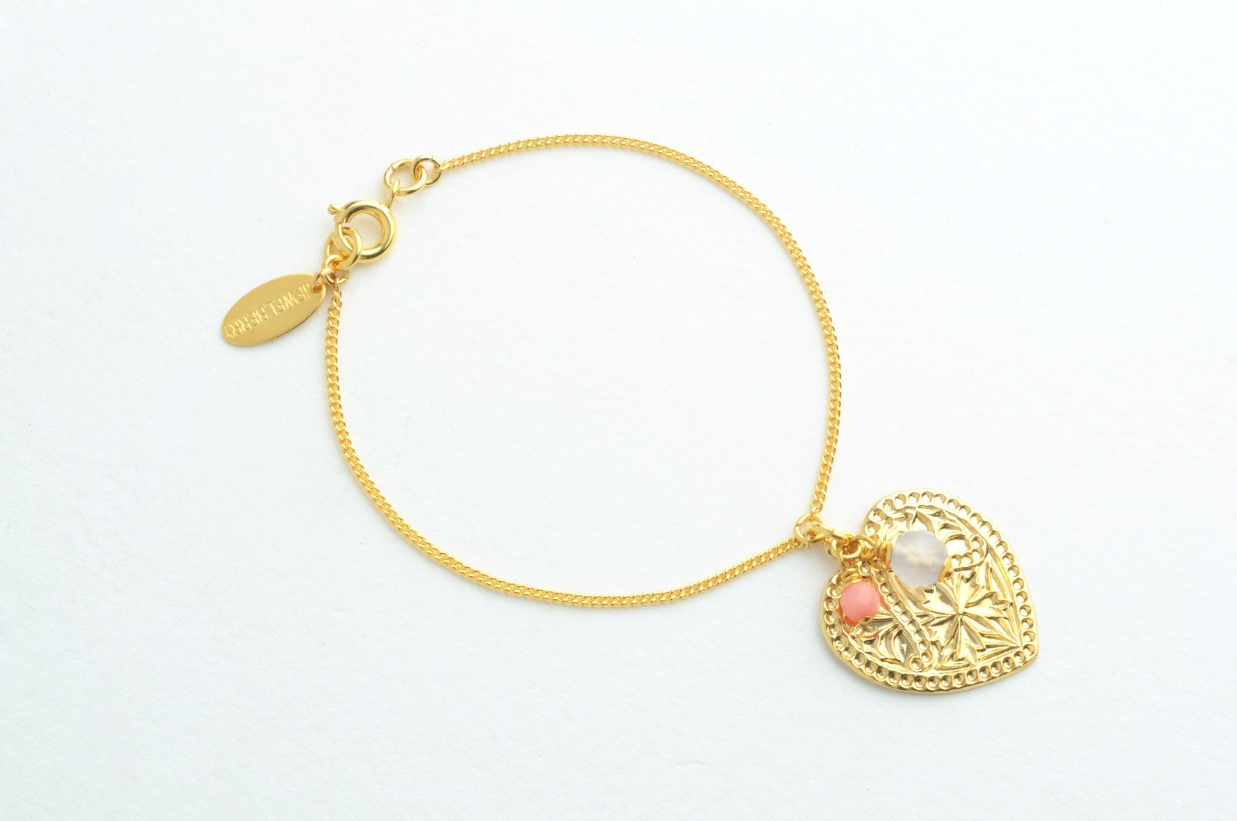 ....Armband ORNAMENTAL HEART vergoldet..Bracelet ORNAMENTAL HEART gold plated....