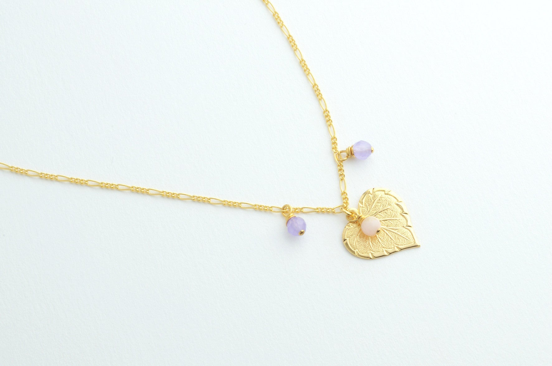 ....Kette HEARTLEAF small vergoldet..Necklace HEARTLEAF gold plated....