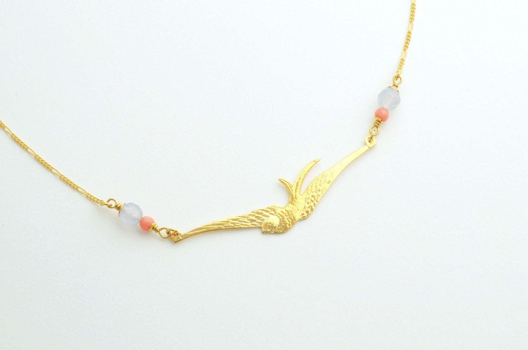 ....Kette LARGE SWALLOW vergoldet..Necklace LARGE SWALLOW gold plated....