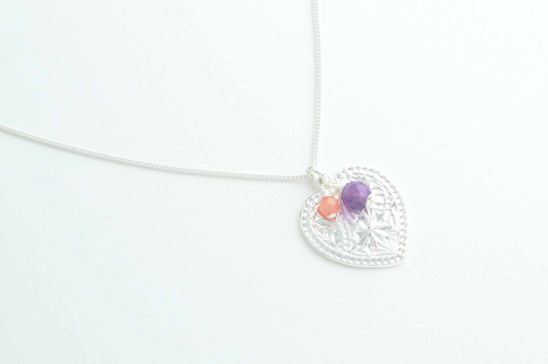 Kette ORNAMENTAL HEART versilbert