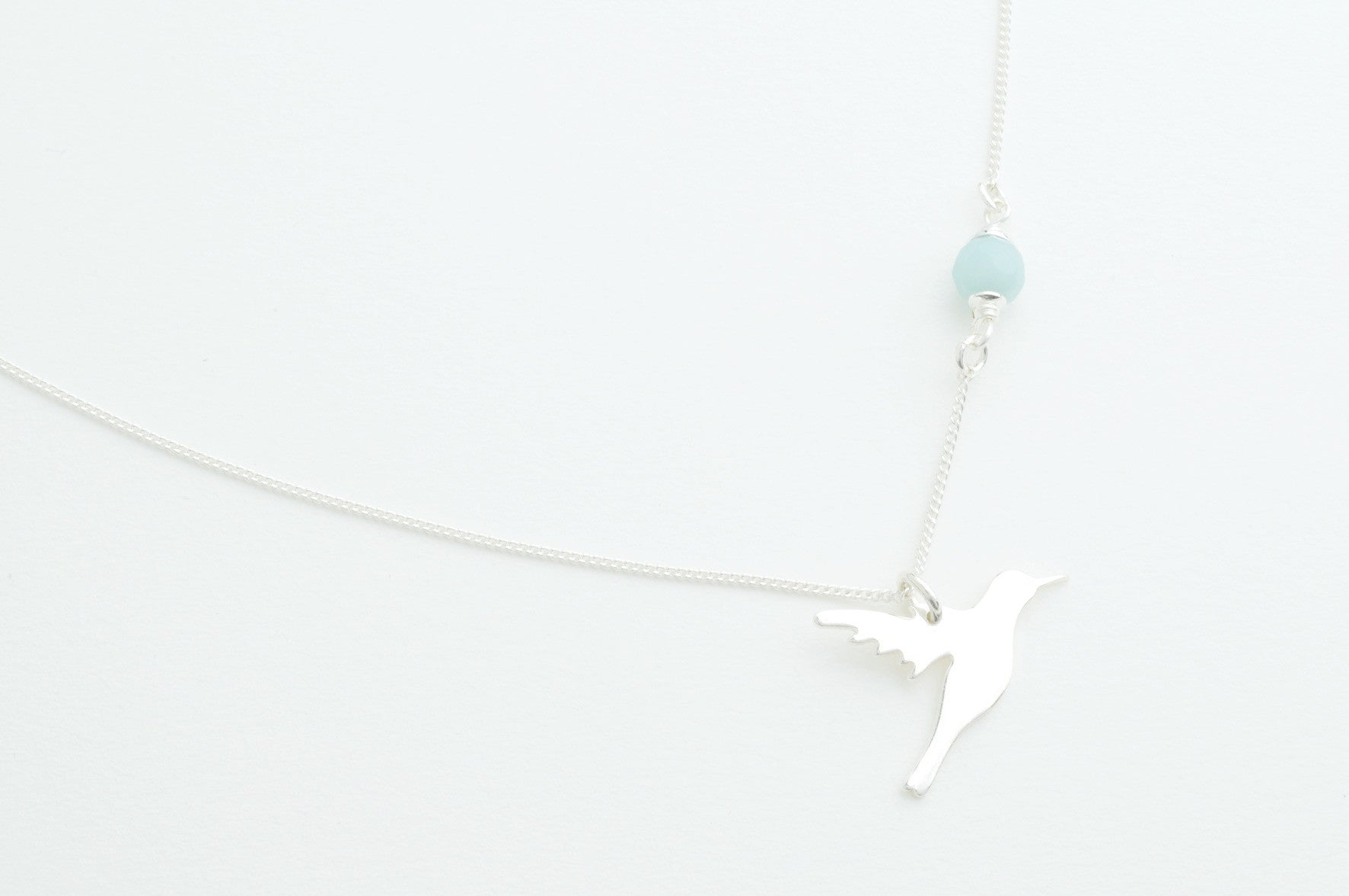 Kette CUT OUT HUMMINGBIRD versilbert