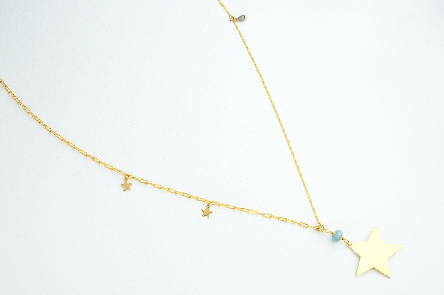 ....Kette BIG STAR large vergoldet..Necklace BIG STAR large gold plated....