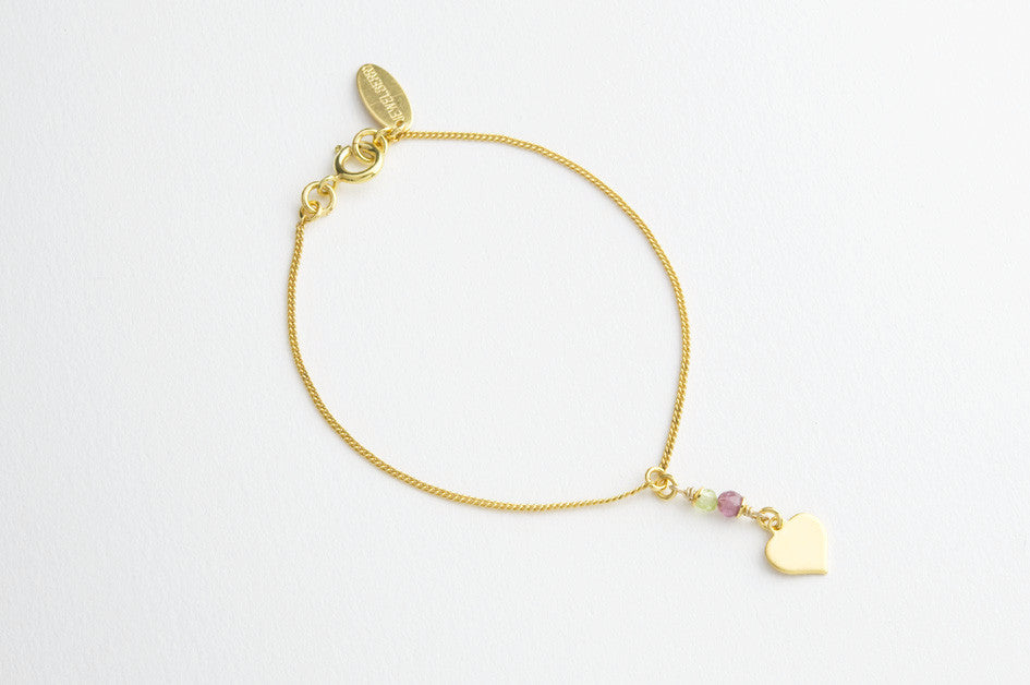 Armband TINY HEART vergoldet