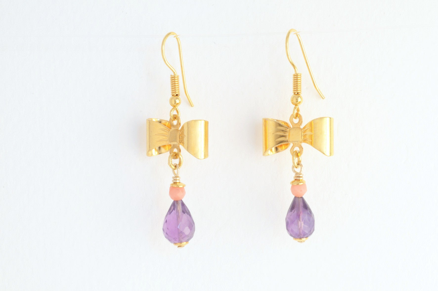 ....Ohrringe BOW medium vergoldet..Earrings BOW medium gold plated....