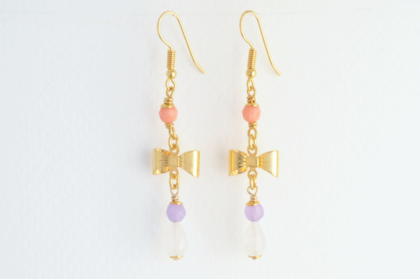 ....Ohrringe BOW large vergoldet..Earrings BOW large gold plated....