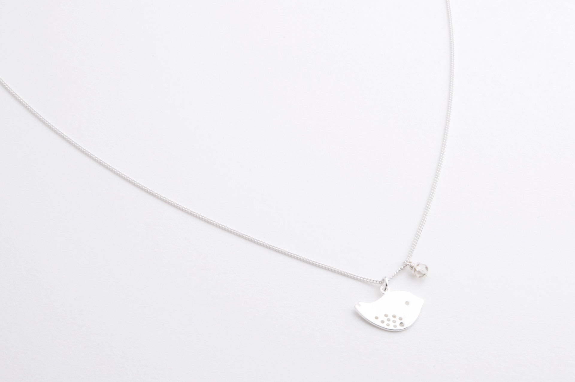 ....Kette SPARROW versilbert..Necklace SPARROW silver plated....
