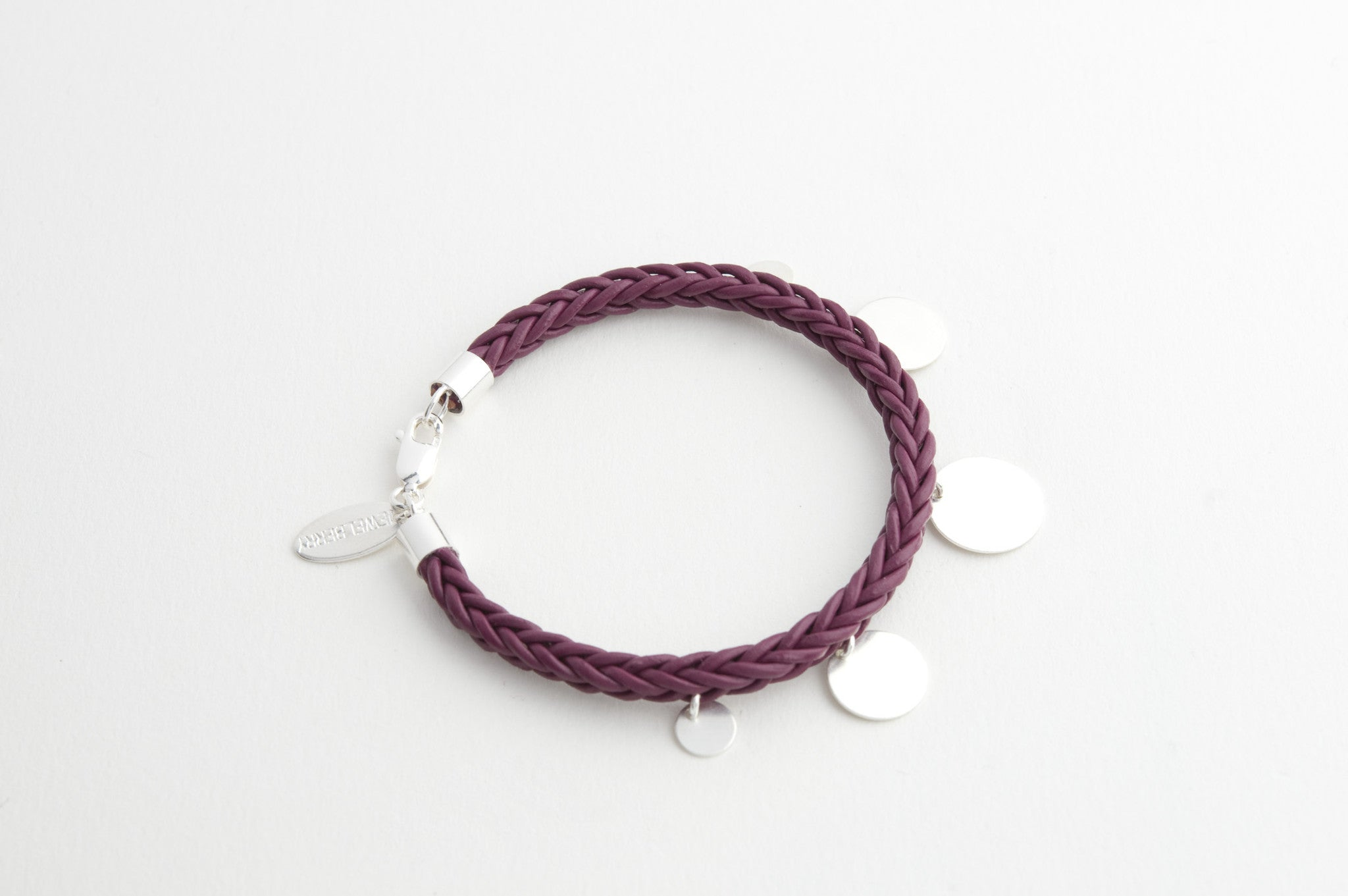 Armband LEATHER BRAID versilbert