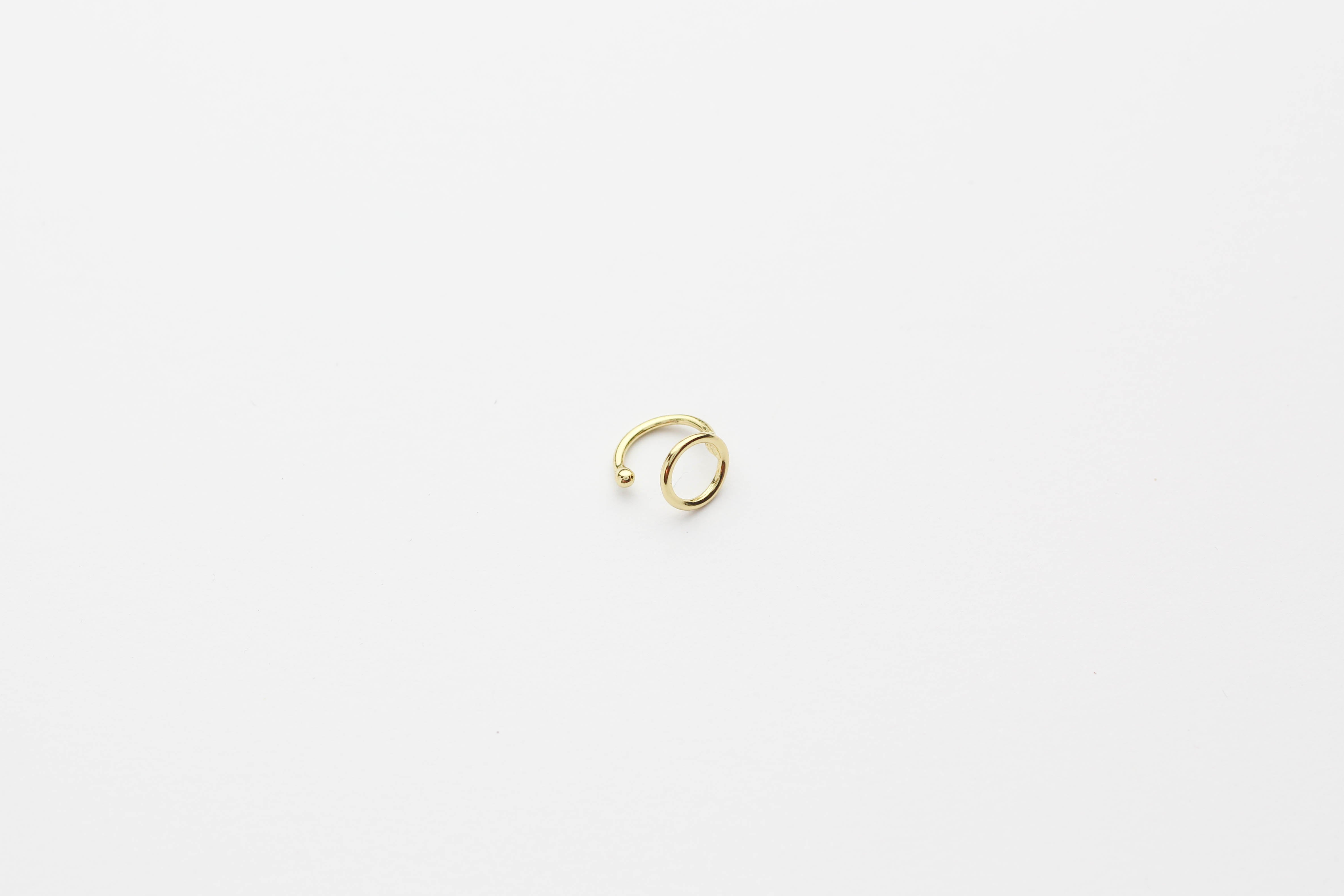 "Earcuff ""Plain Ring"" gold"