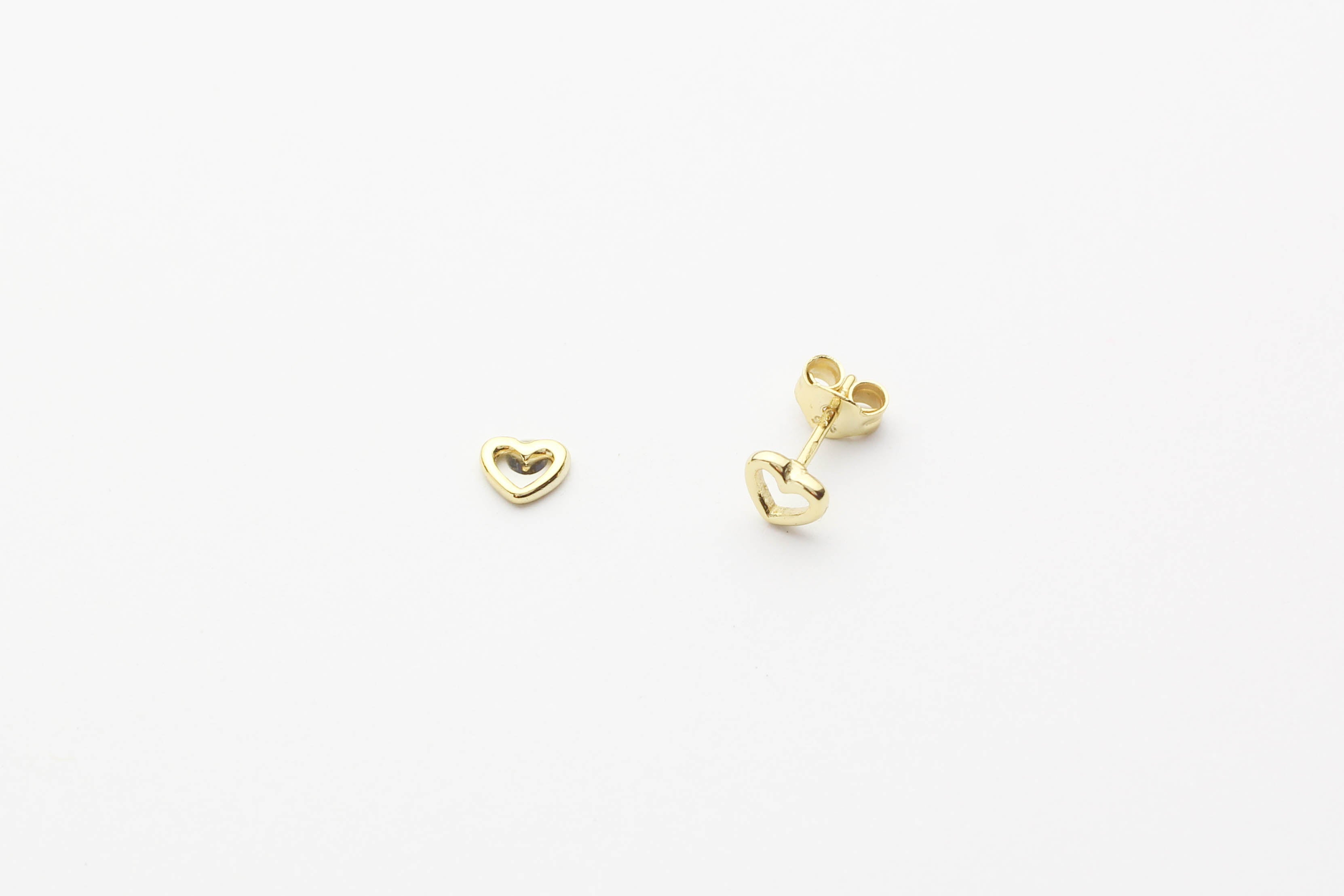 "Ohrstecker ""Heart Line"" gold"