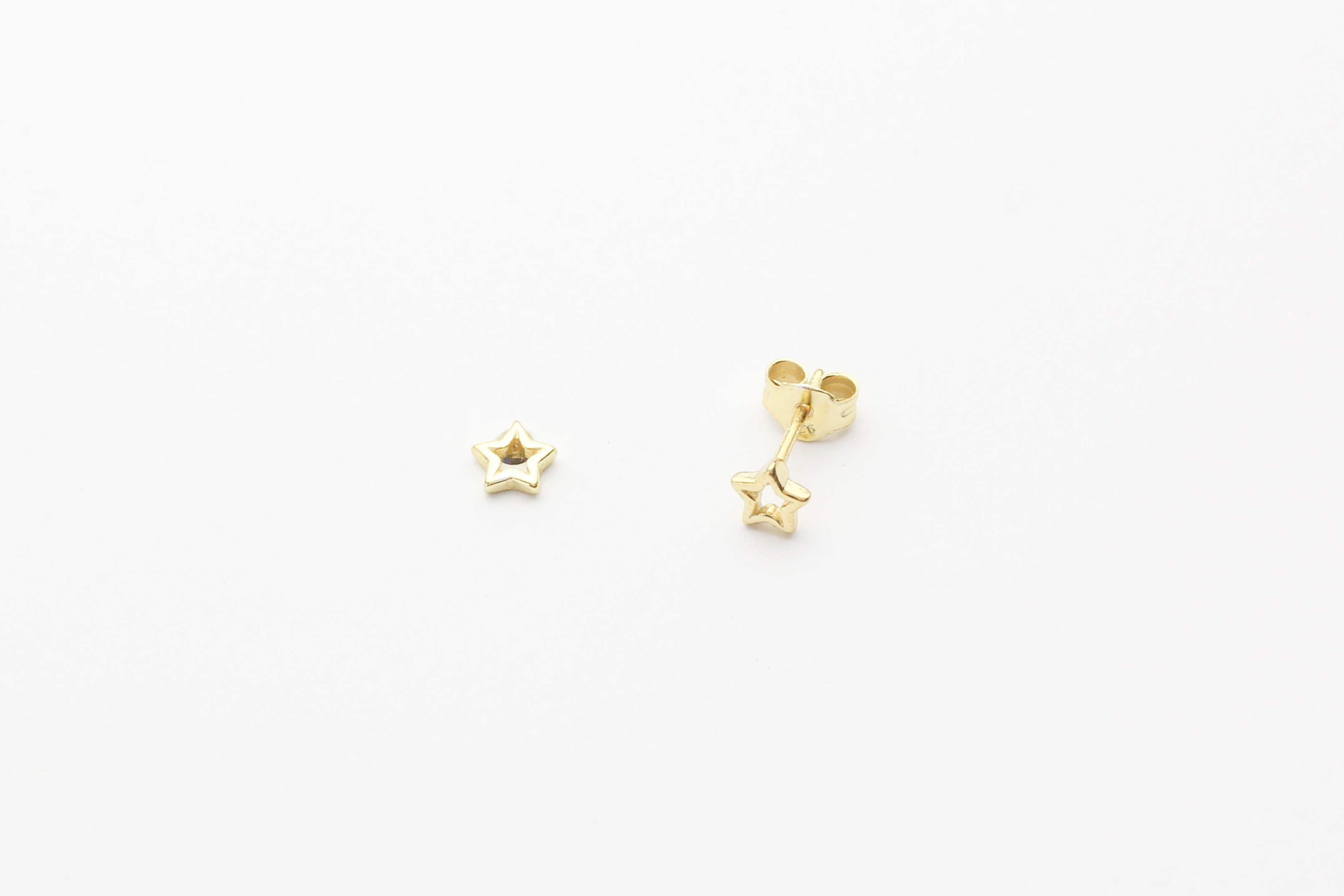 "Ohrstecker ""Star Line"" gold"