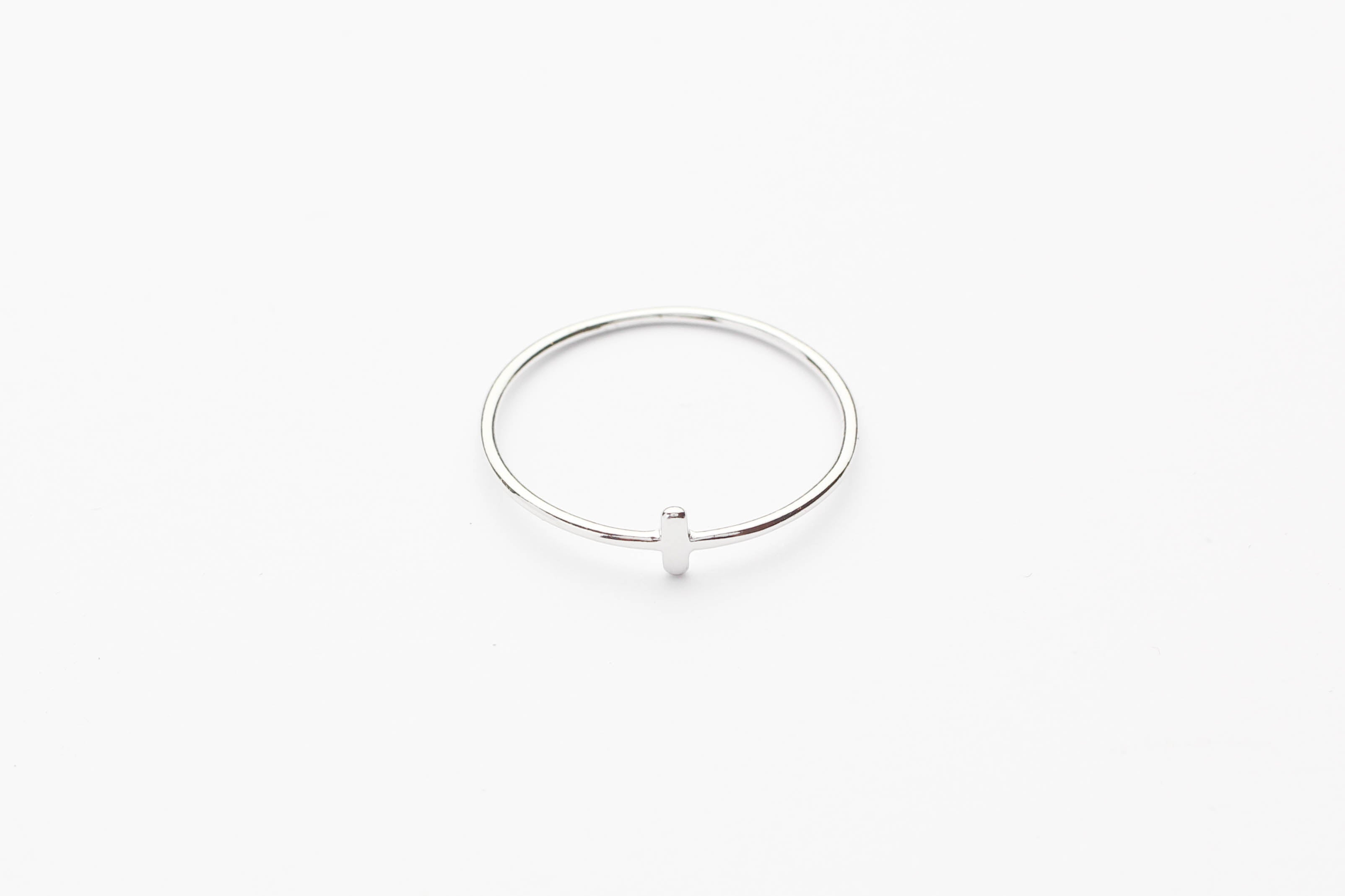 "Ring ""Crossed Bar"" silber"