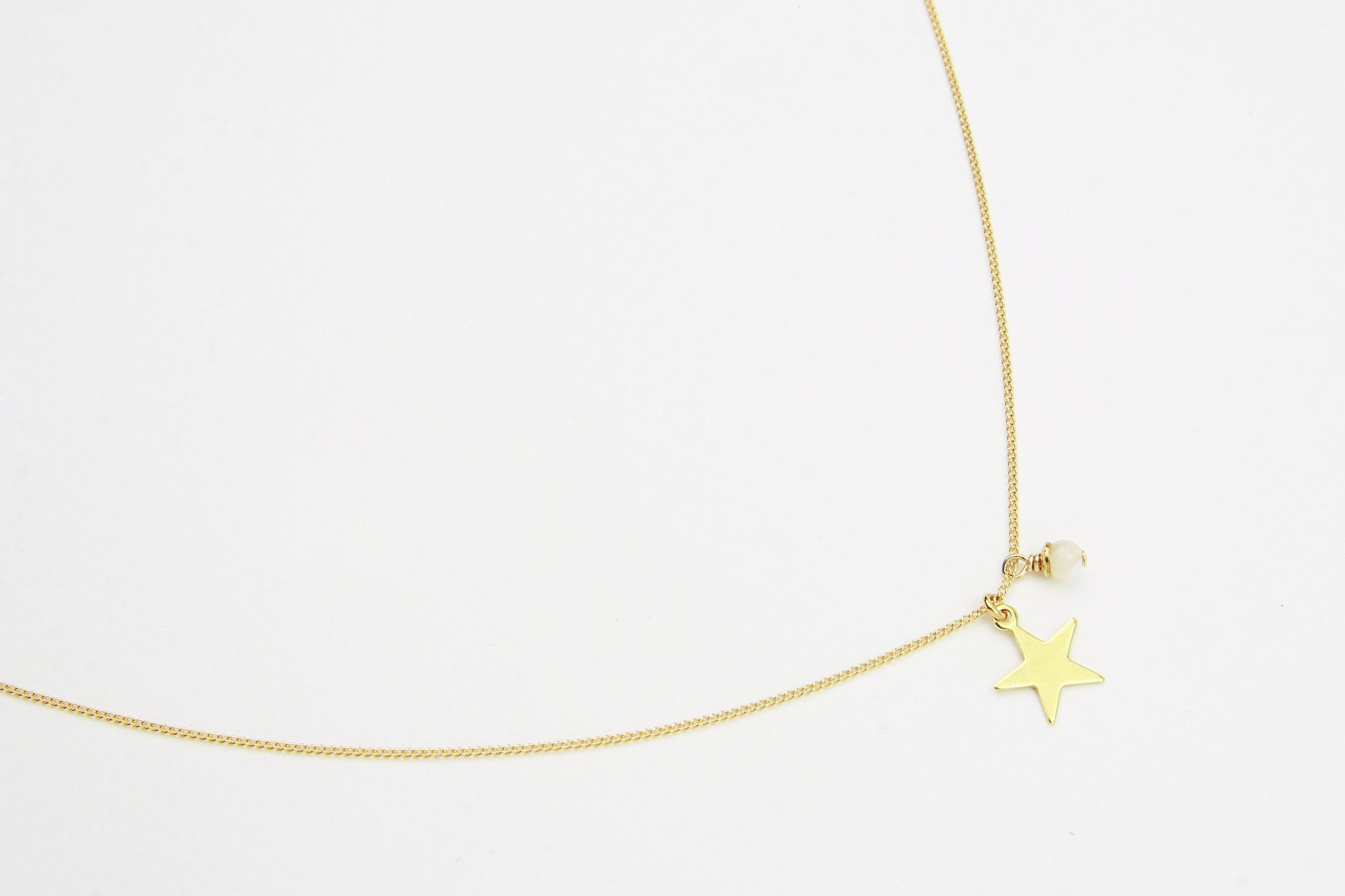Kette PLAIN STAR 925 Sterling Silber vergoldet
