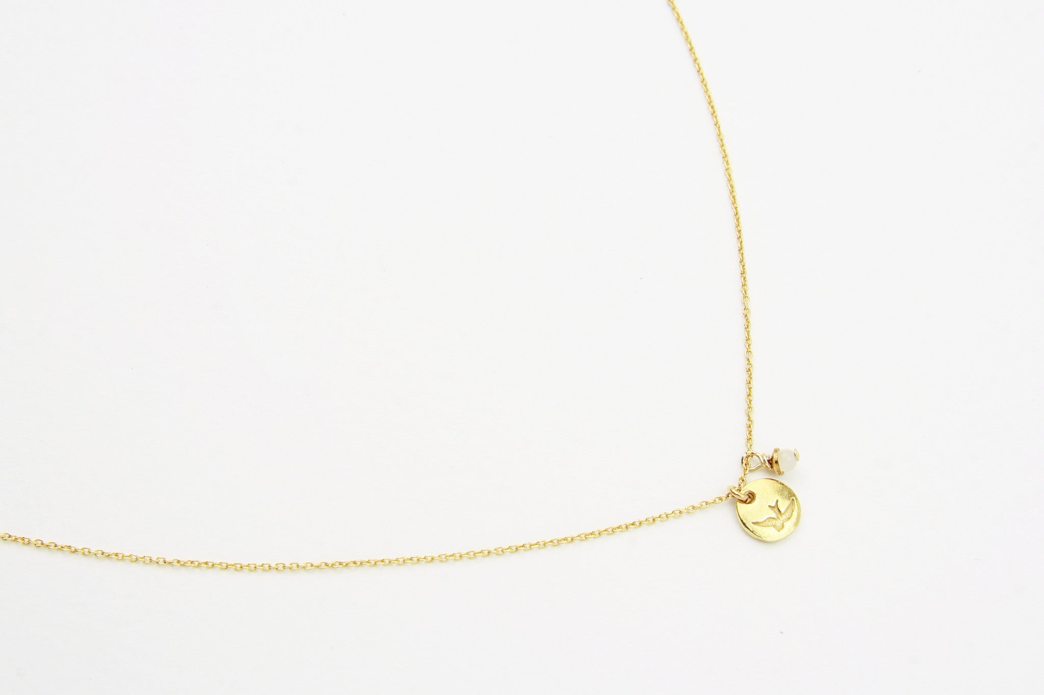 ....Kette BIRD TOKEN 925 Silber vergoldet..Necklace BIRD TOKEN 925 Sterling Silver gold plated....