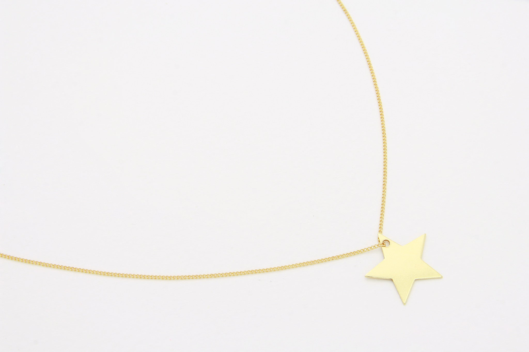 Kette PLAIN STAR MEDIUM 925 Silber vergoldet