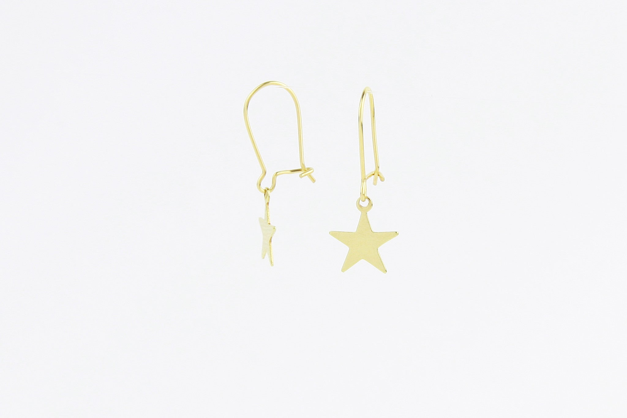 jewelberry ohrringe earrings plain star yellow gold plated sterling silver fine jewelry handmade with love fairtrade