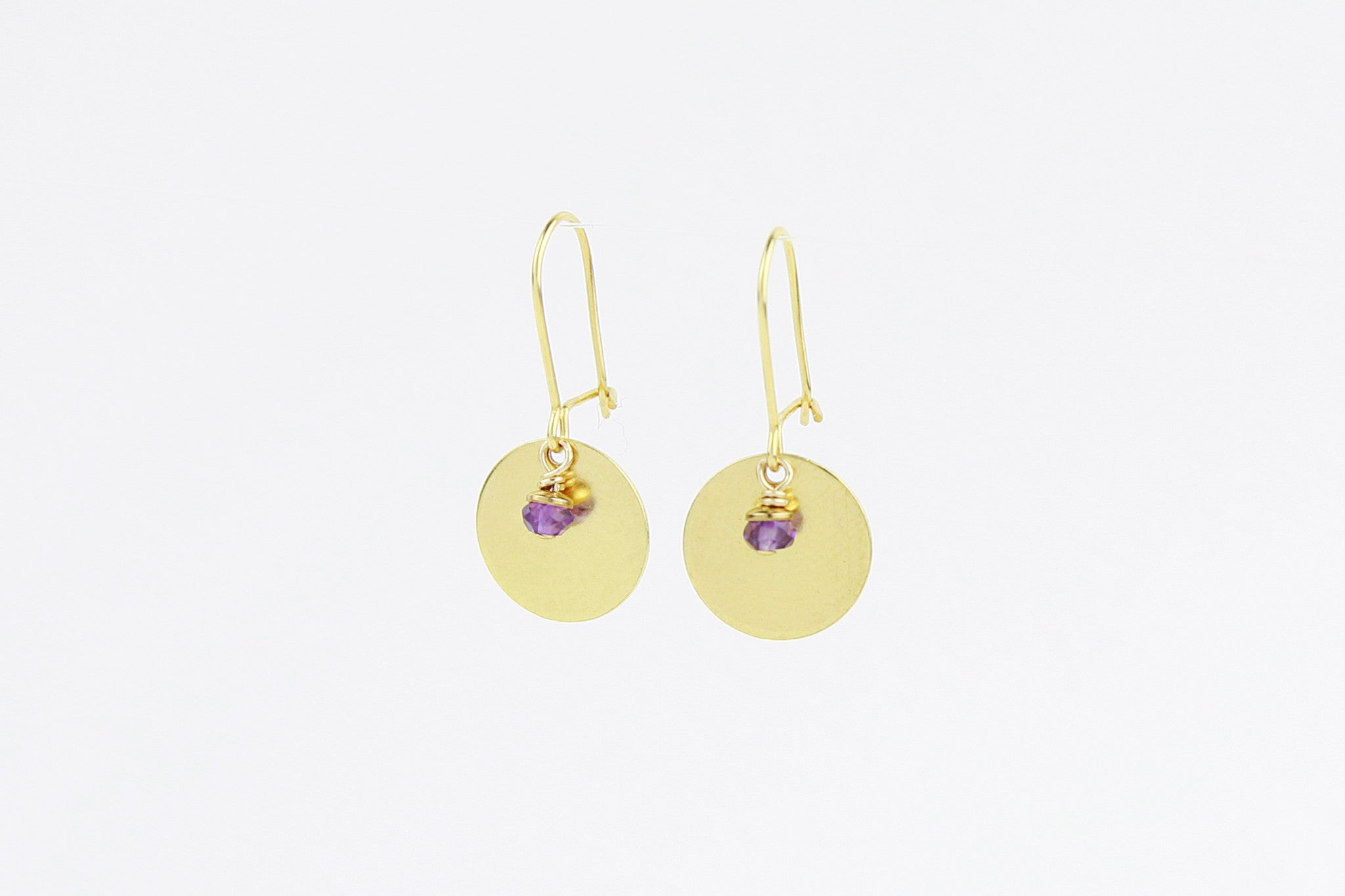 ....Ohrringe MEDIUM DISC 925 Sterling Silber vergoldet..Earrings MEDIUM DISC 925 Sterling Silver gold plated....