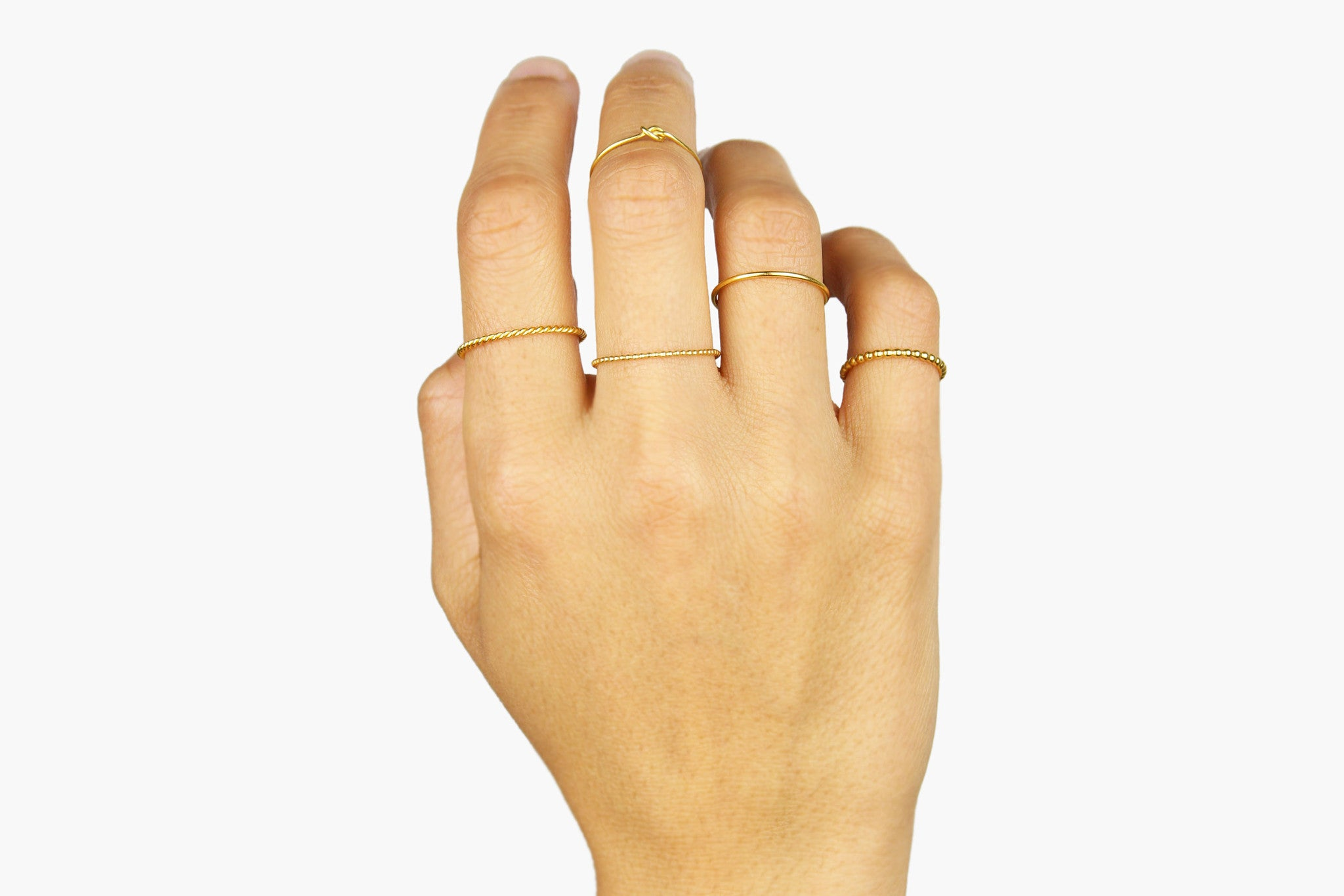 "Ring ""Medium Pearls"" gold"