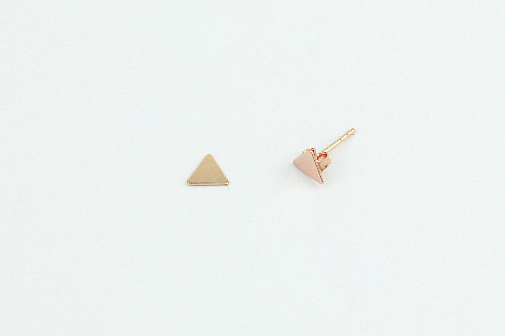 Ohrstecker TRIANGLE 925 Sterling Silber rosé vergoldet
