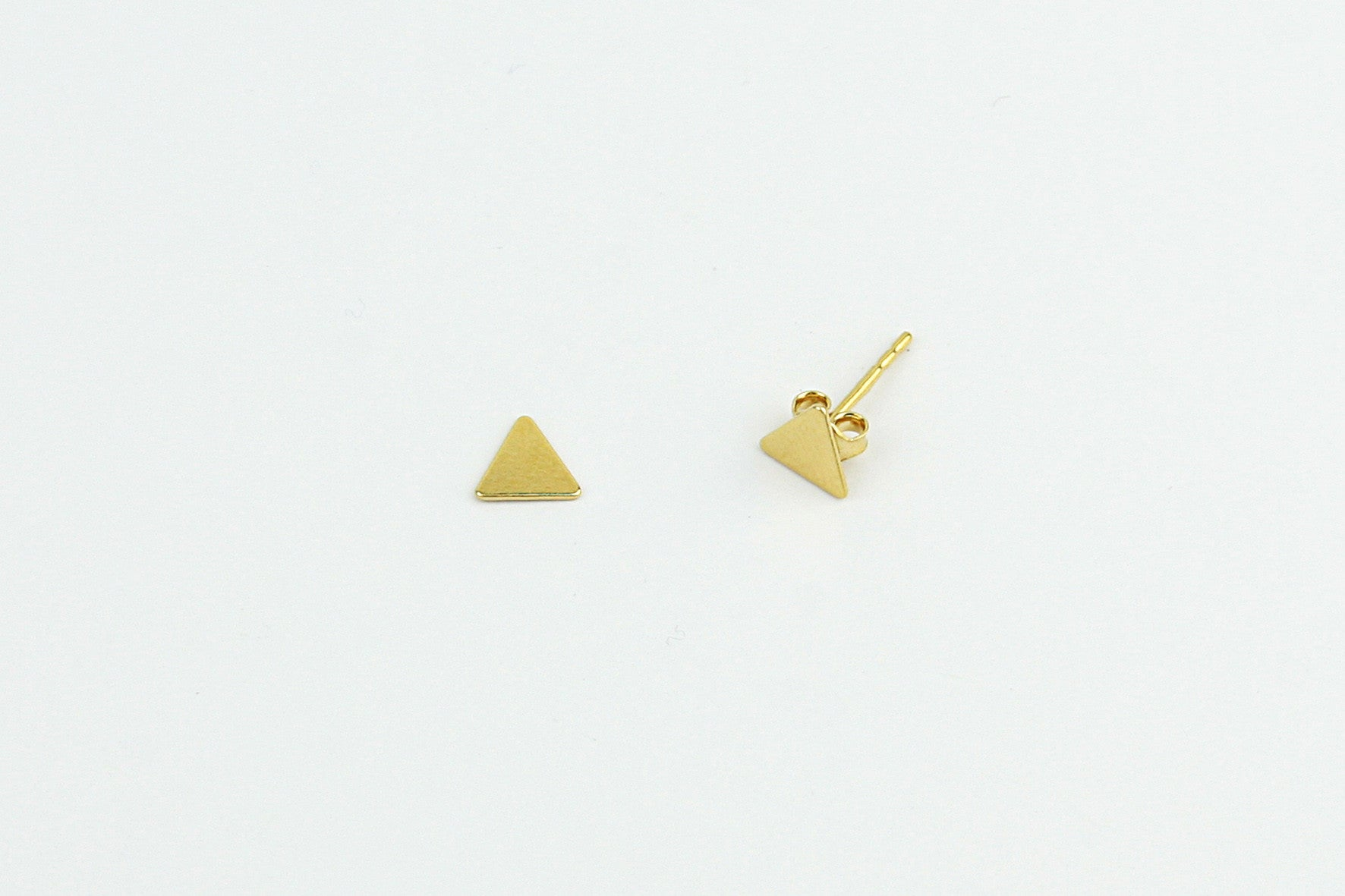 Ohrstecker TRIANGLE 925 Sterling Silber vergoldet