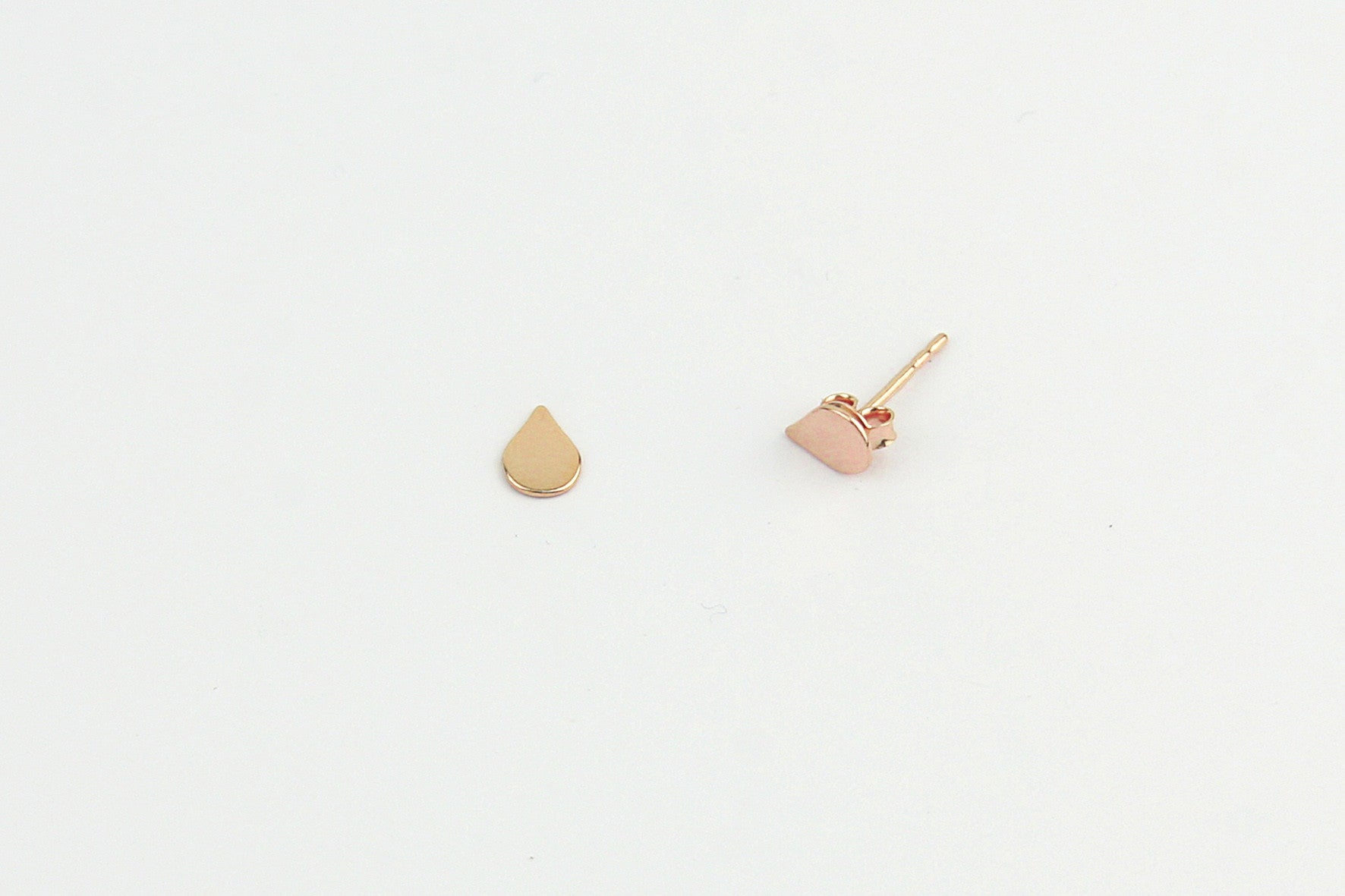 Ohrstecker TINY DROP 925 Sterling Silber rosé vergoldet