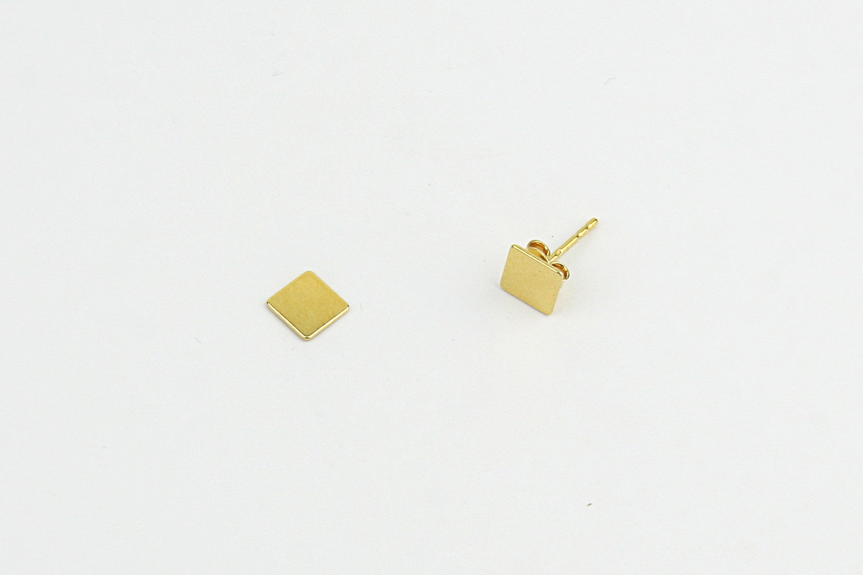 "Ohrstecker ""Rectangle"" gold"