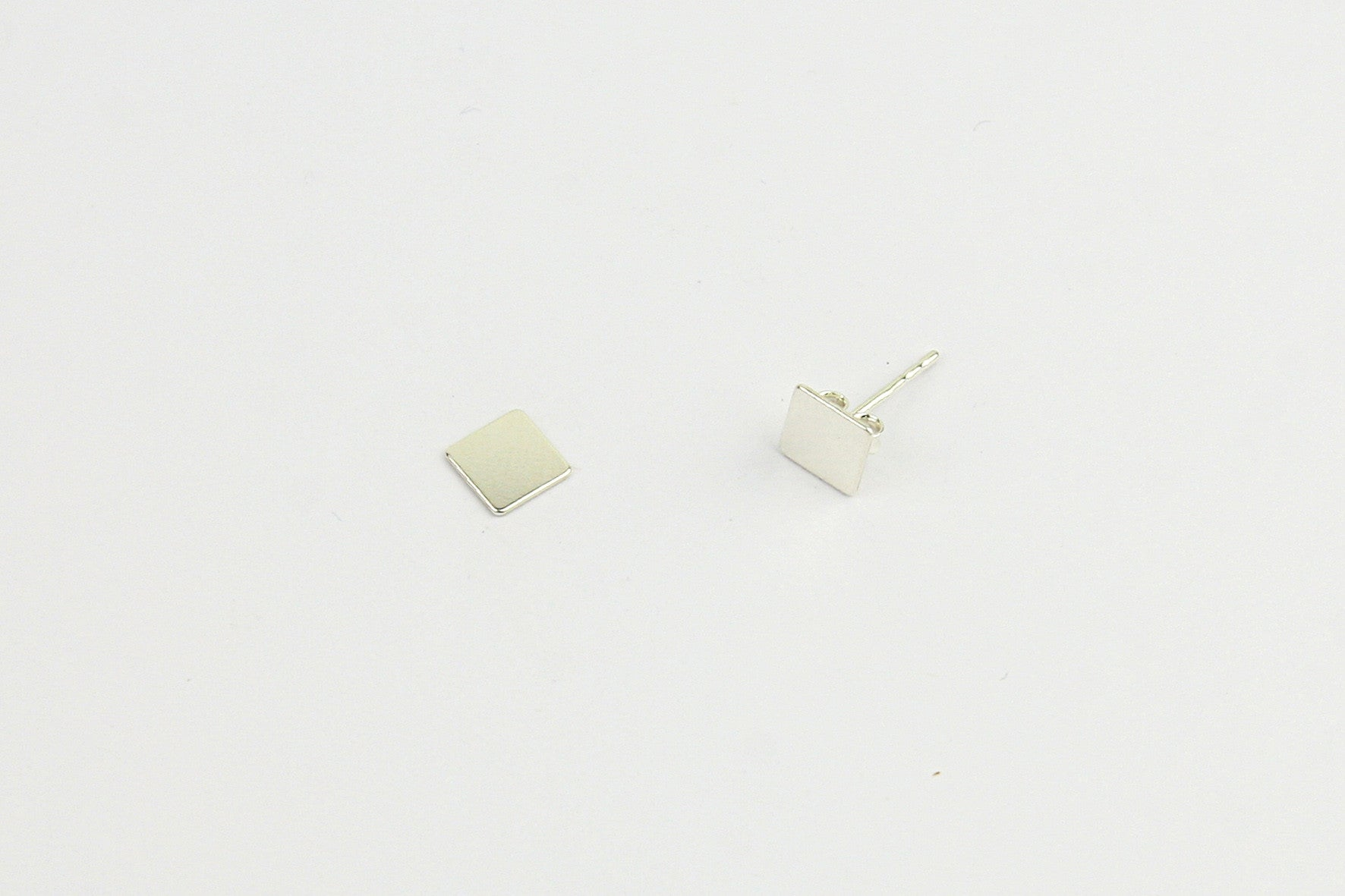 "Ohrstecker ""Rectangle"" silber"