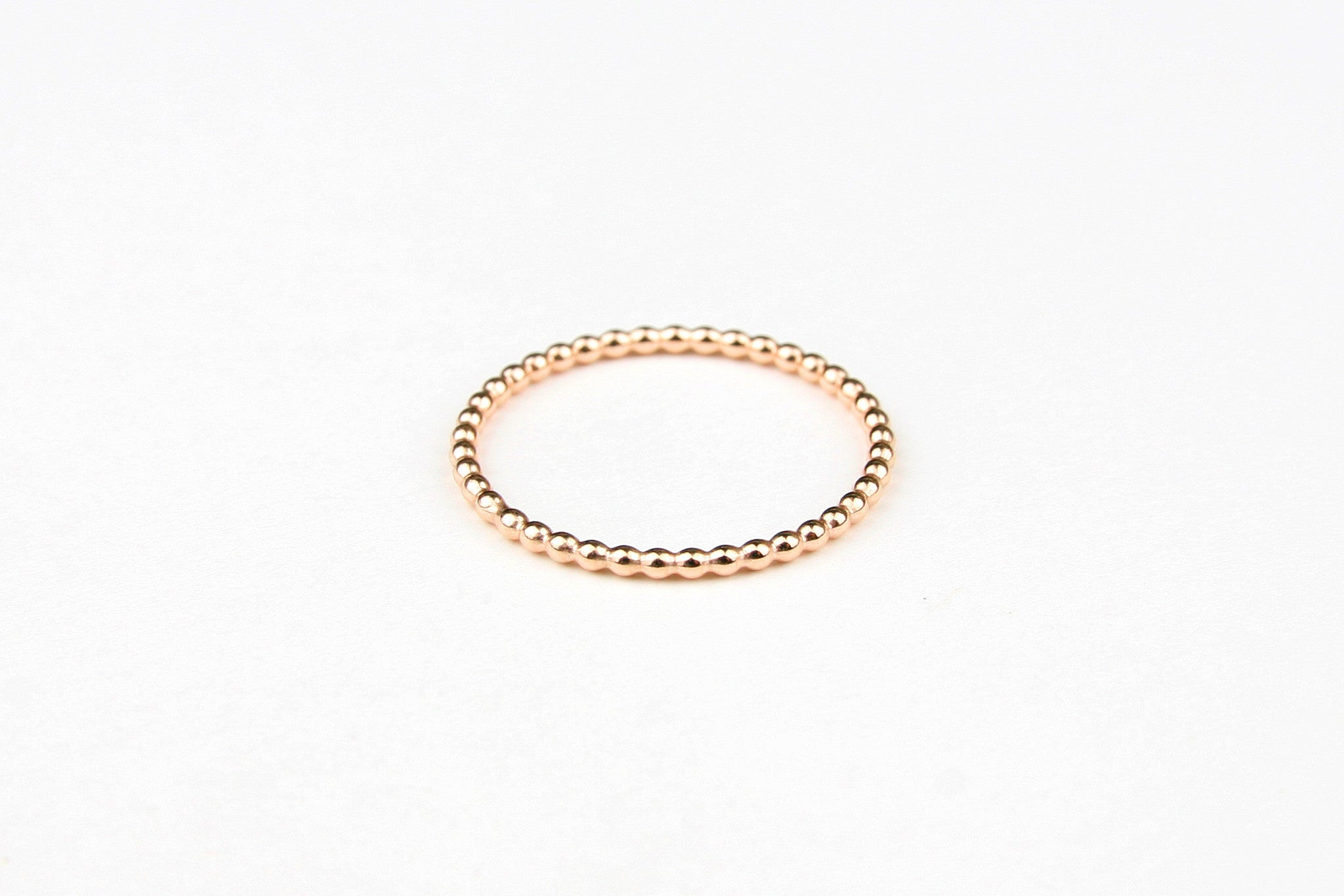 "Ring ""Medium Pearls"" rosé"
