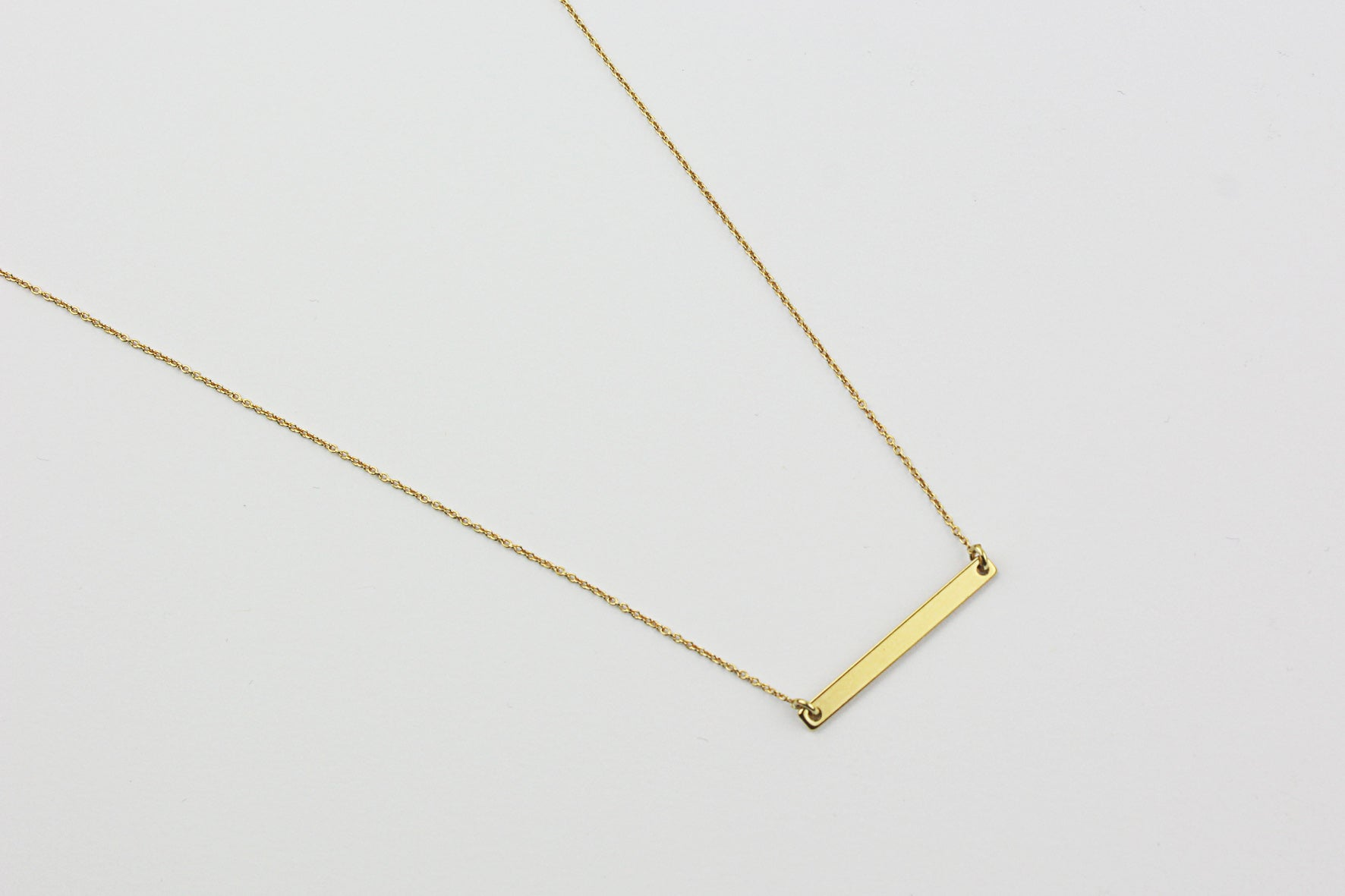 ....Kette MEDIUM BAR FRAMED Sterling Silber vergoldet..Necklace MEDIUM BAR FRAMED Sterling Silver gold plated....