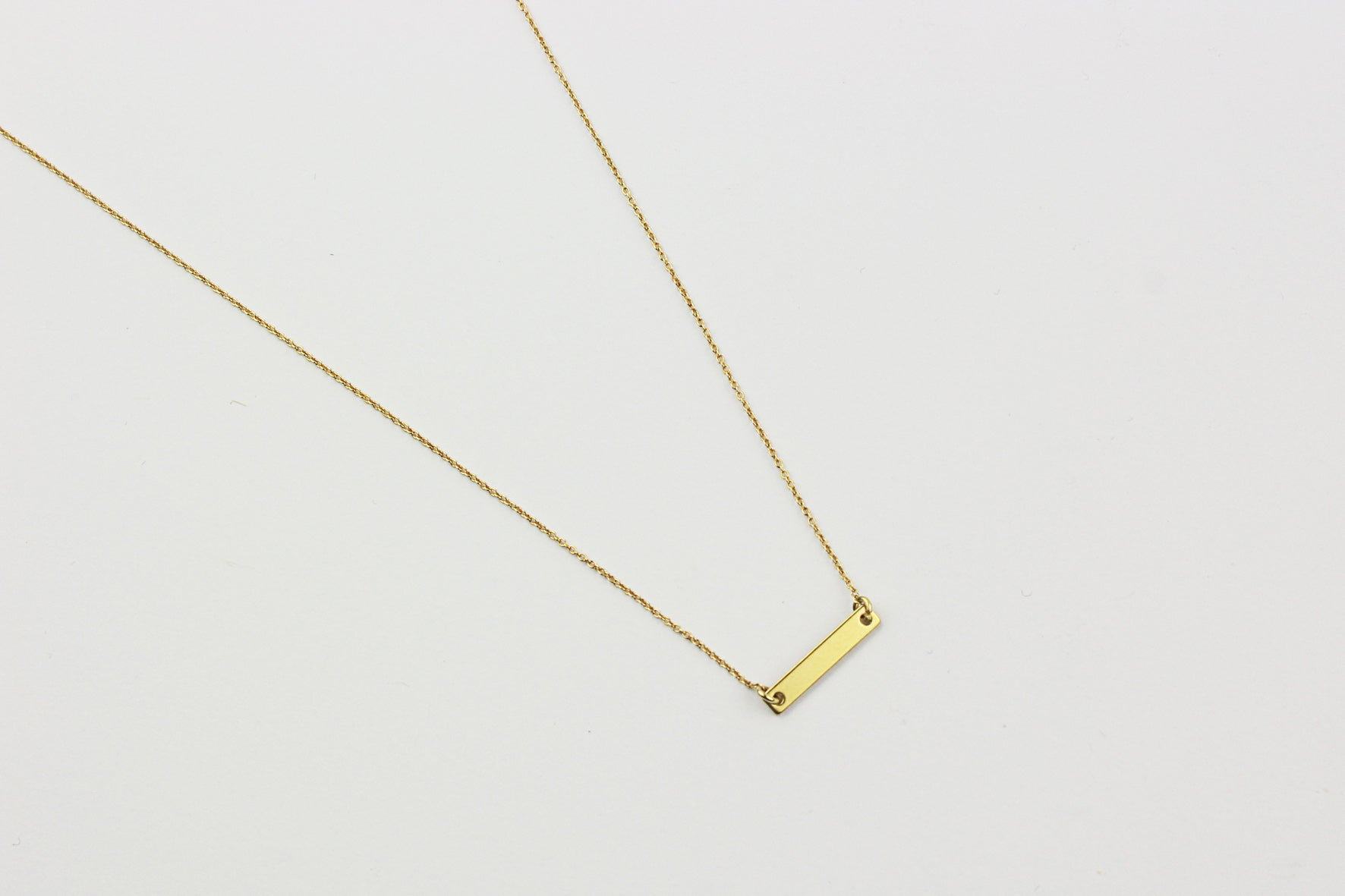 ....Kette SMALL BAR FRAMED Sterling Silber vergoldet..Necklace SMALL BAR FRAMED Sterling Silver gold plated....