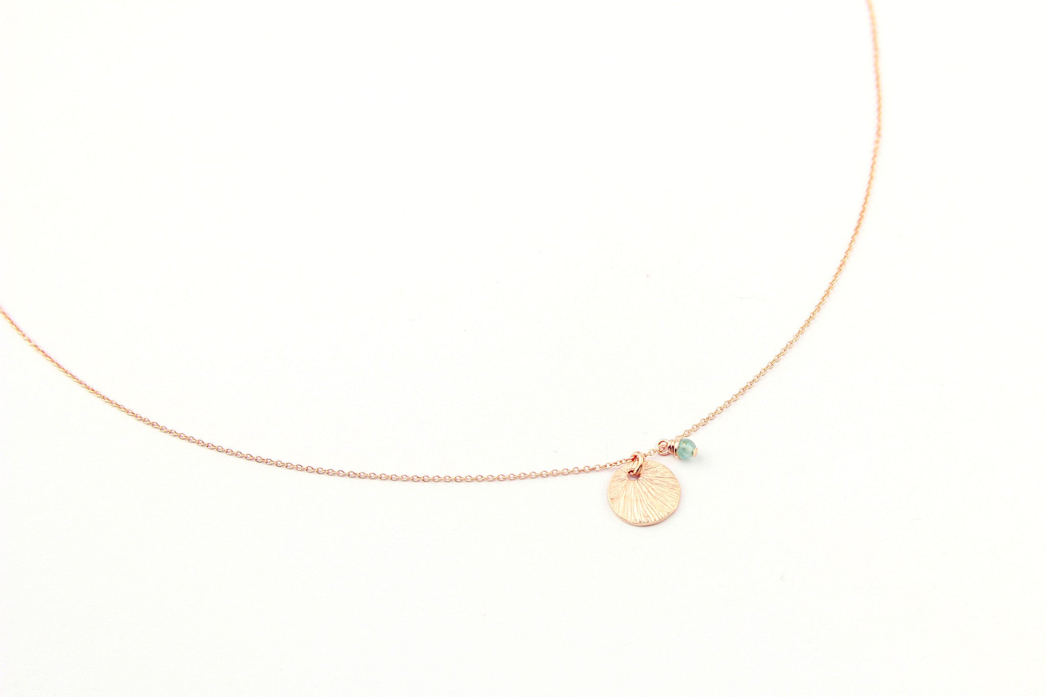 jewelberry necklace kette small shell anchor chain rose gold plated sterling silver fine jewelry handmade with love fairtrade