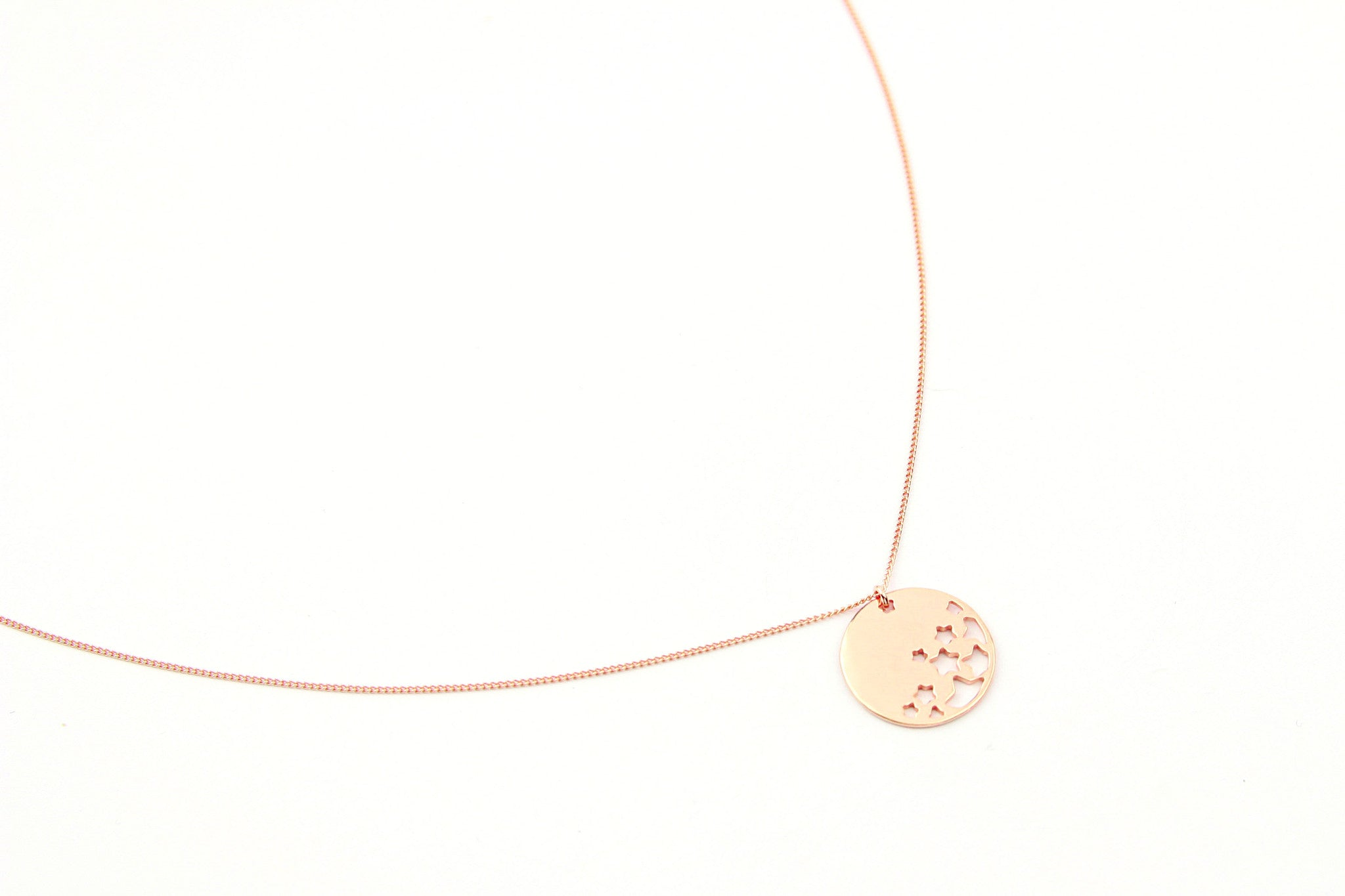 jewelberry necklace kette night sky curb chain rose gold plated sterling silver fine jewelry handmade with love fairtrade