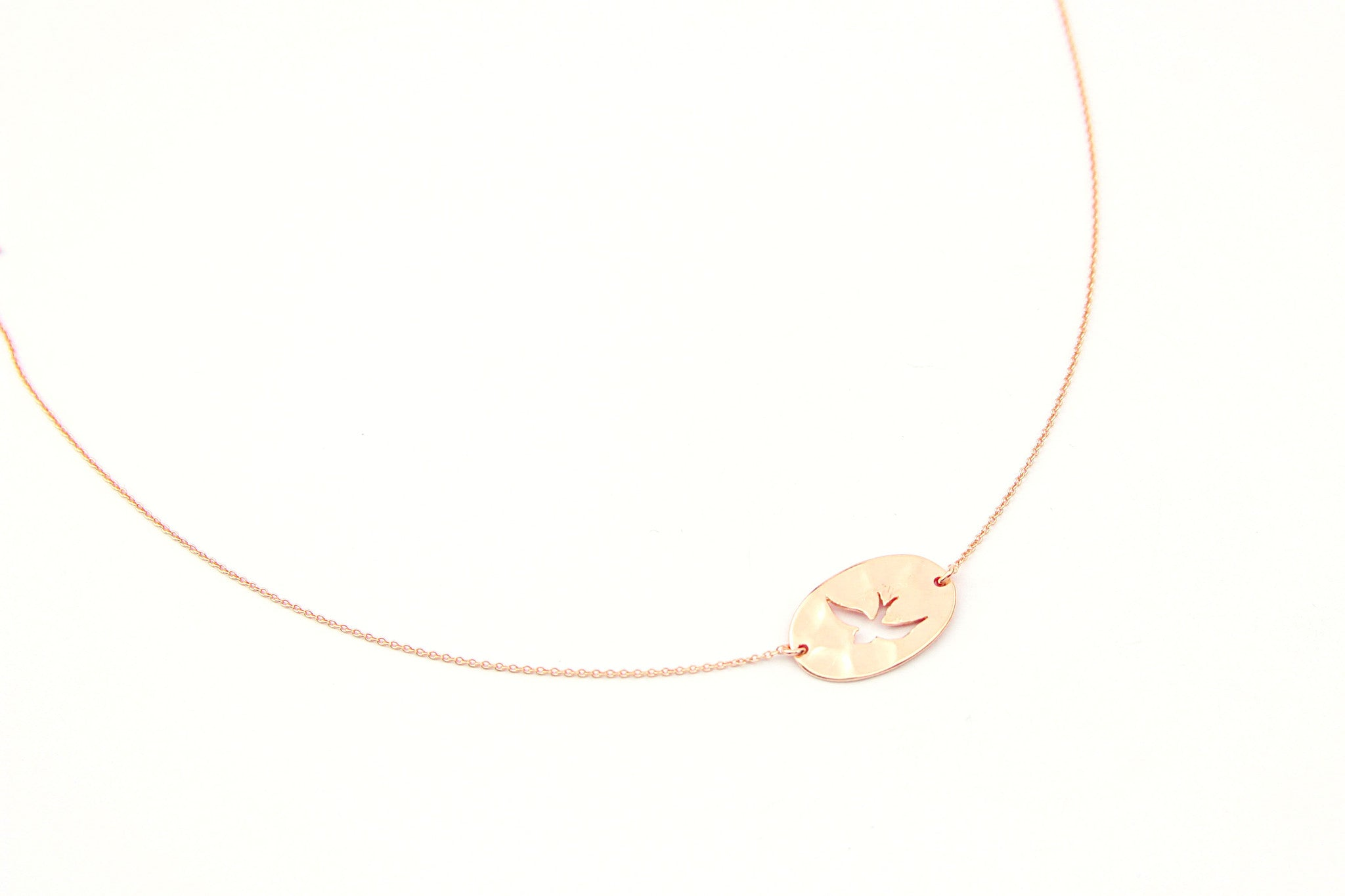 jewelberry necklace kette cut out swallow anchor chain rose gold plated sterling silver fine jewelry handmade with love fairtrade