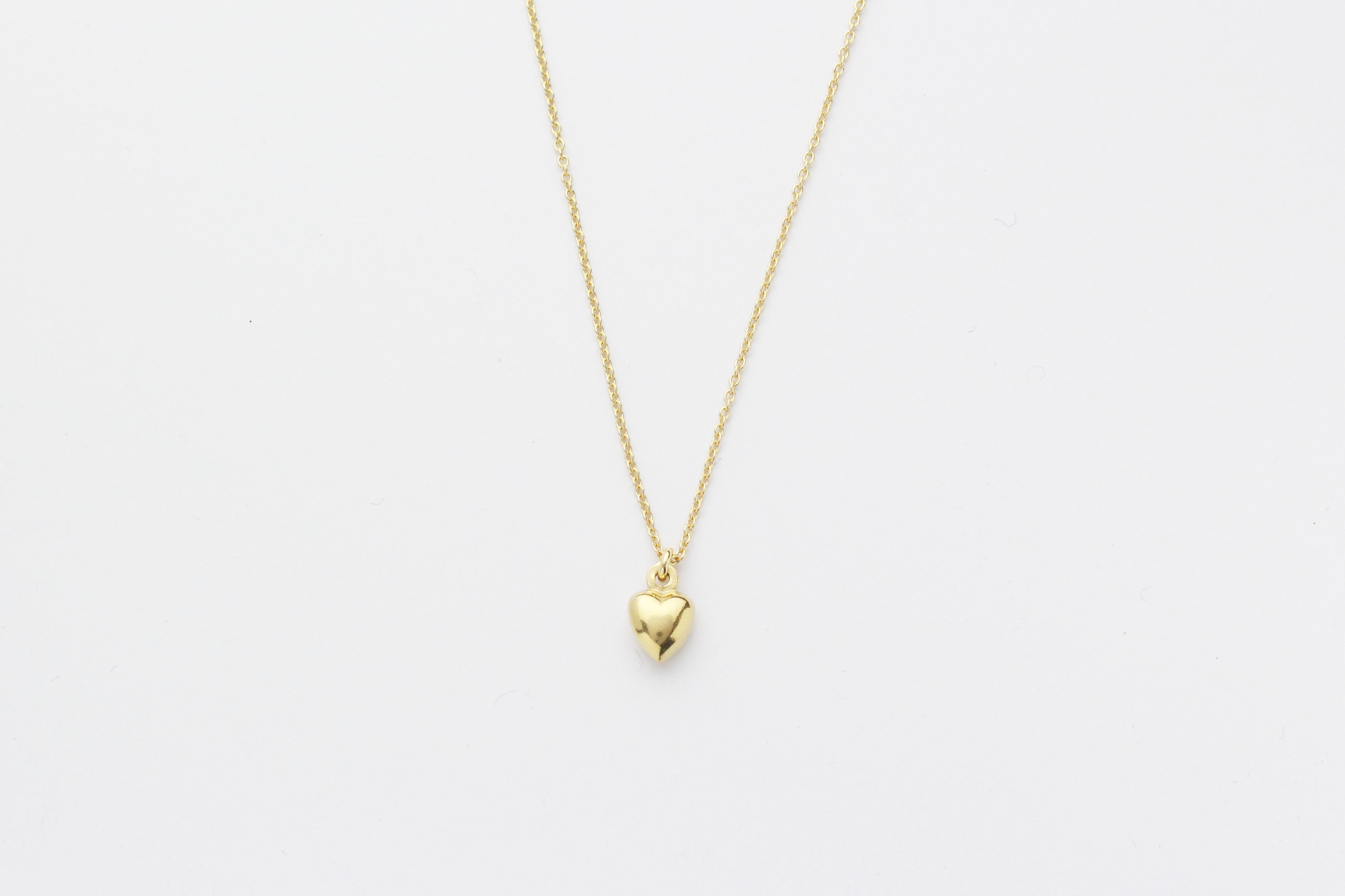 "Kette "" Puffed Heart"" gold"