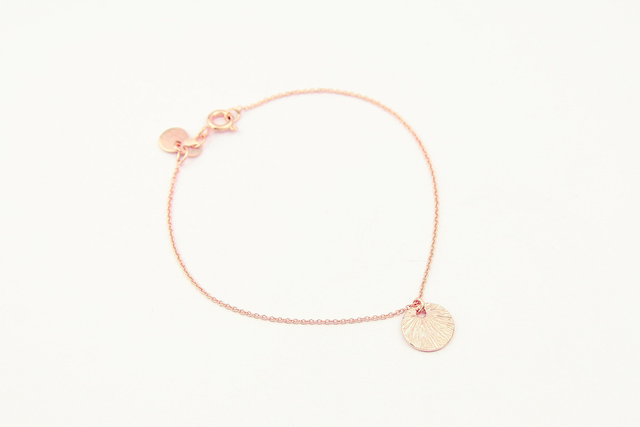 jewelberry armband bracelet small shell rose gold plated sterling silver fine jewelry handmade with love fairtrade curb chain