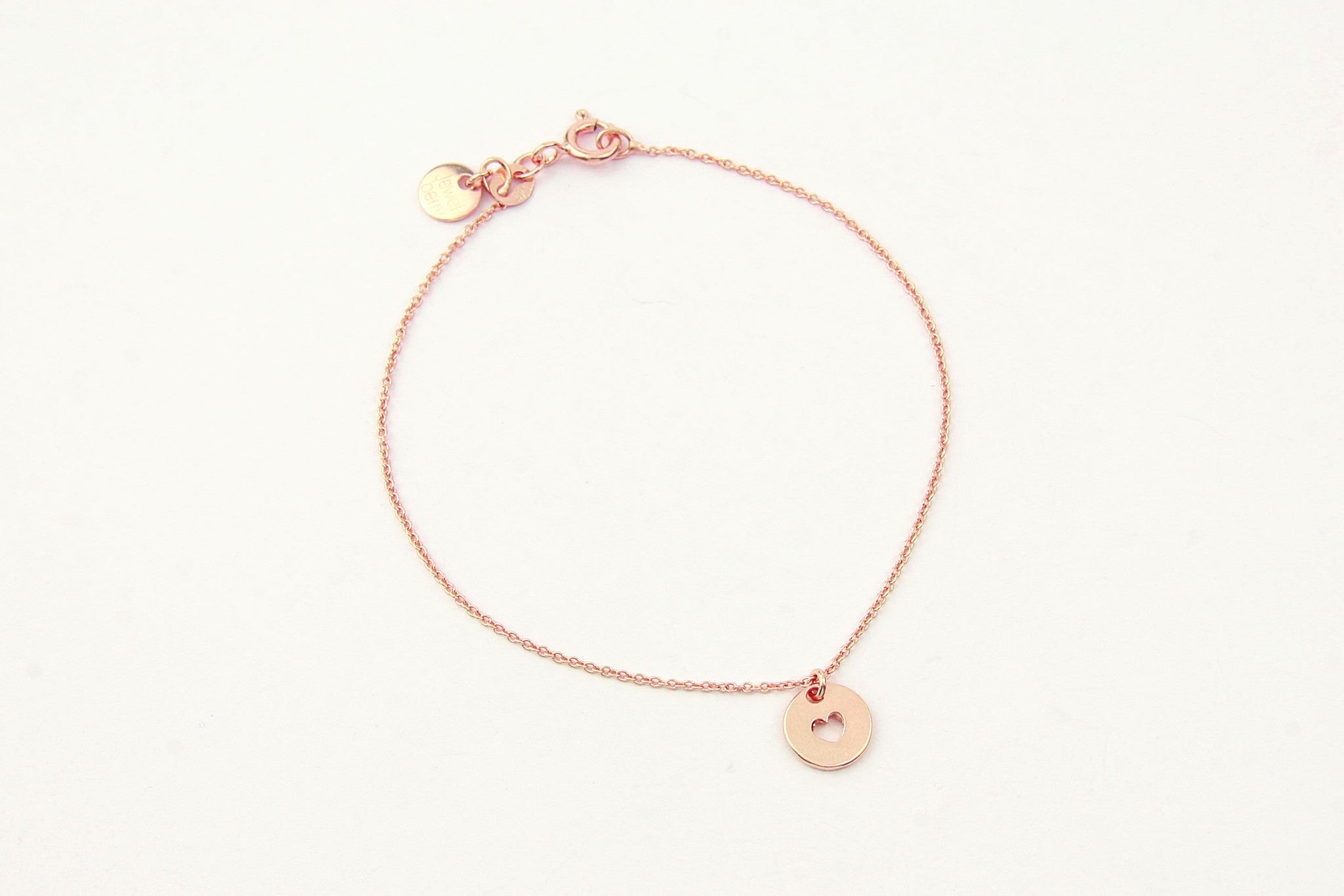 jewelberry armband bracelet love token rose gold plated sterling silver fine jewelry handmade with love fairtrade anchor chain