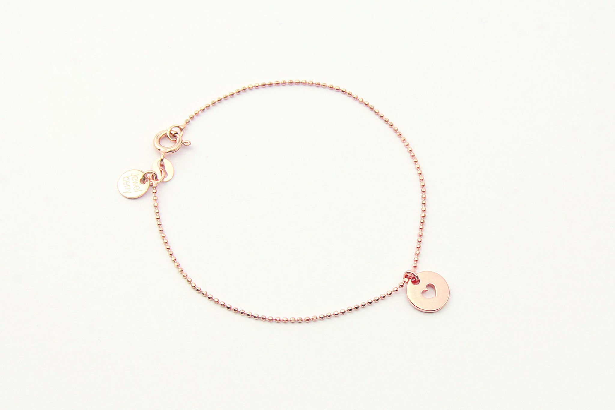 jewelberry armband bracelet love token rose gold plated sterling silver fine jewelry handmade with love fairtrade bead chain