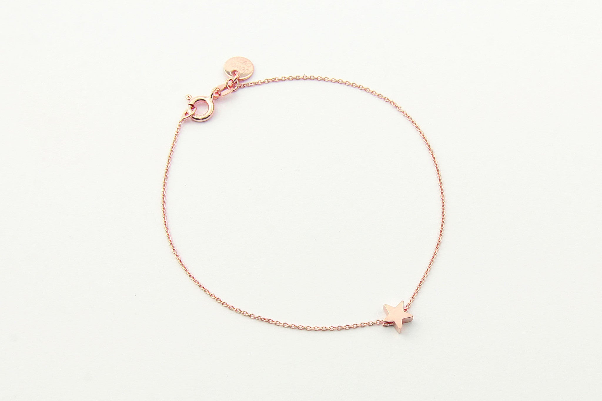 jewelberry armband bracelet little star rose gold plated sterling silver fine jewelry handmade with love fairtrade anchor chain