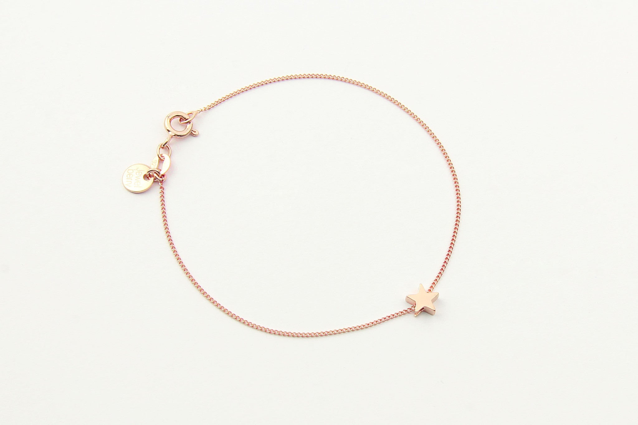 jewelberry armband bracelet little star rose gold plated sterling silver fine jewelry handmade with love fairtrade curb chain