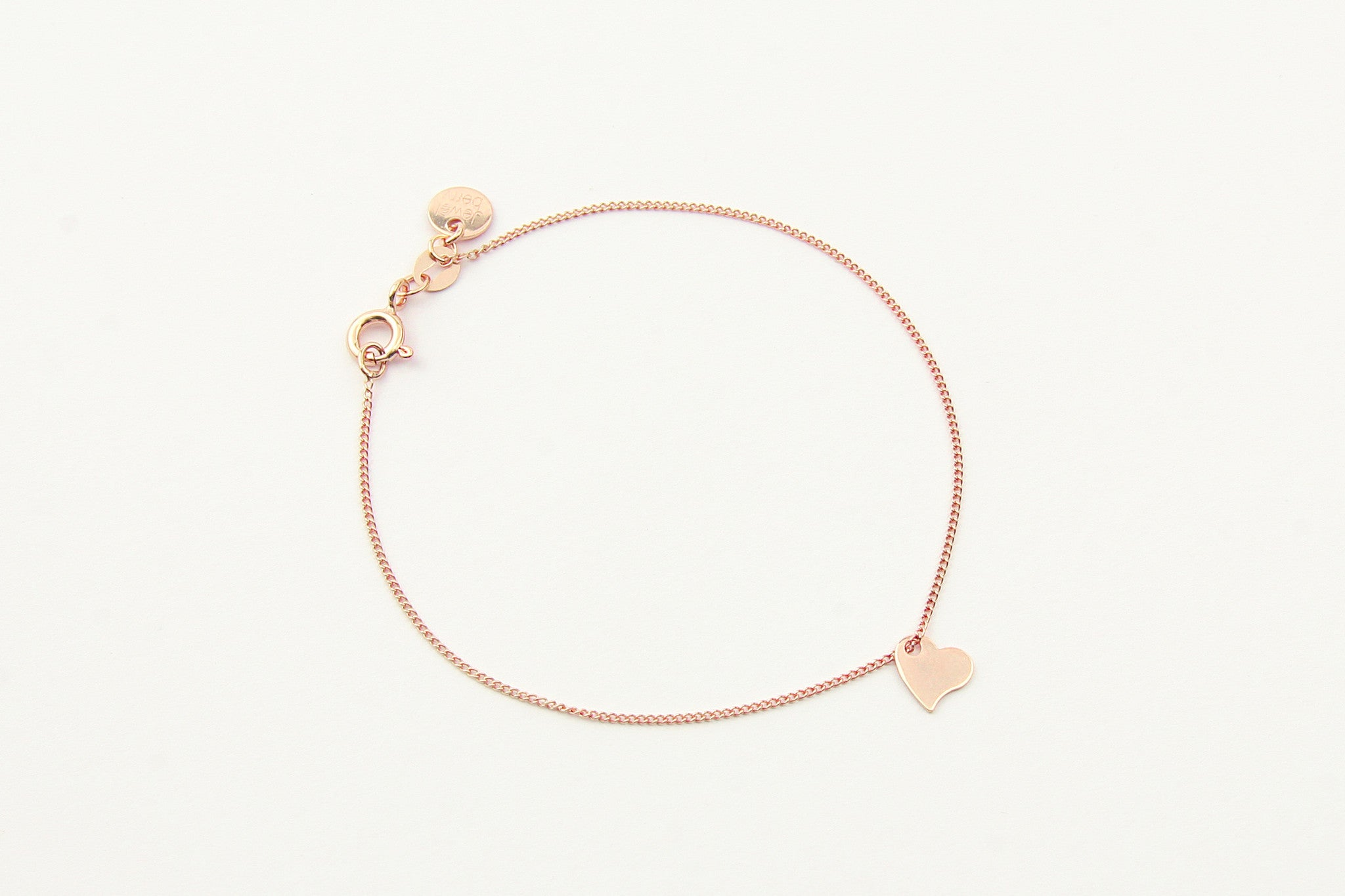 jewelberry armband bracelet my love rose gold plated sterling silver fine jewelry handmade with love fairtrade curb chain