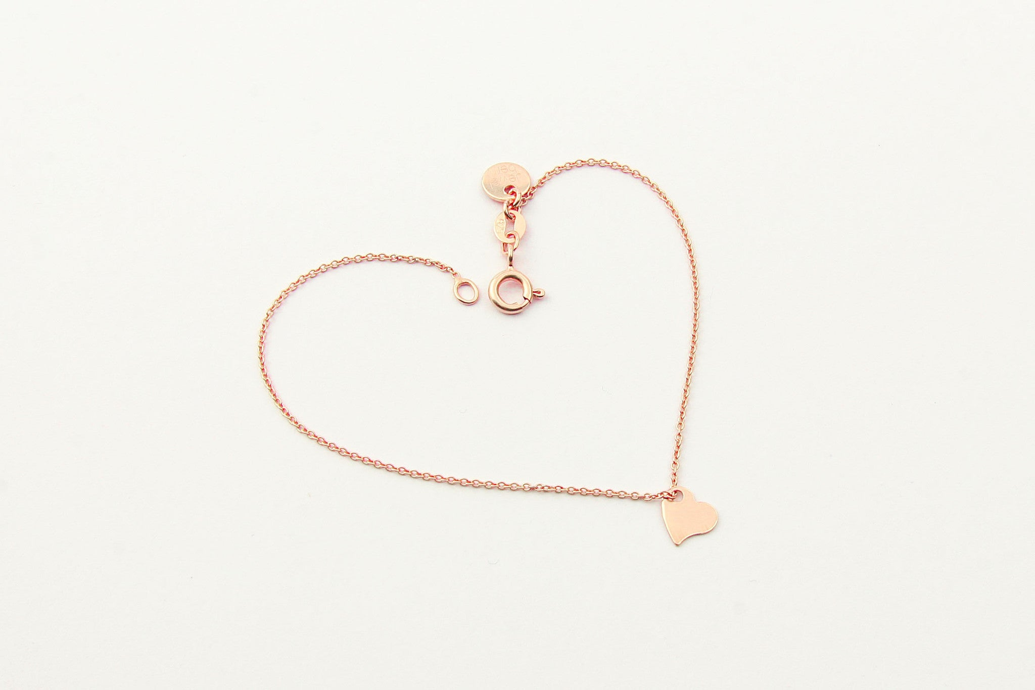 jewelberry armband bracelet my love rose gold plated sterling silver fine jewelry handmade with love fairtrade anchor chain