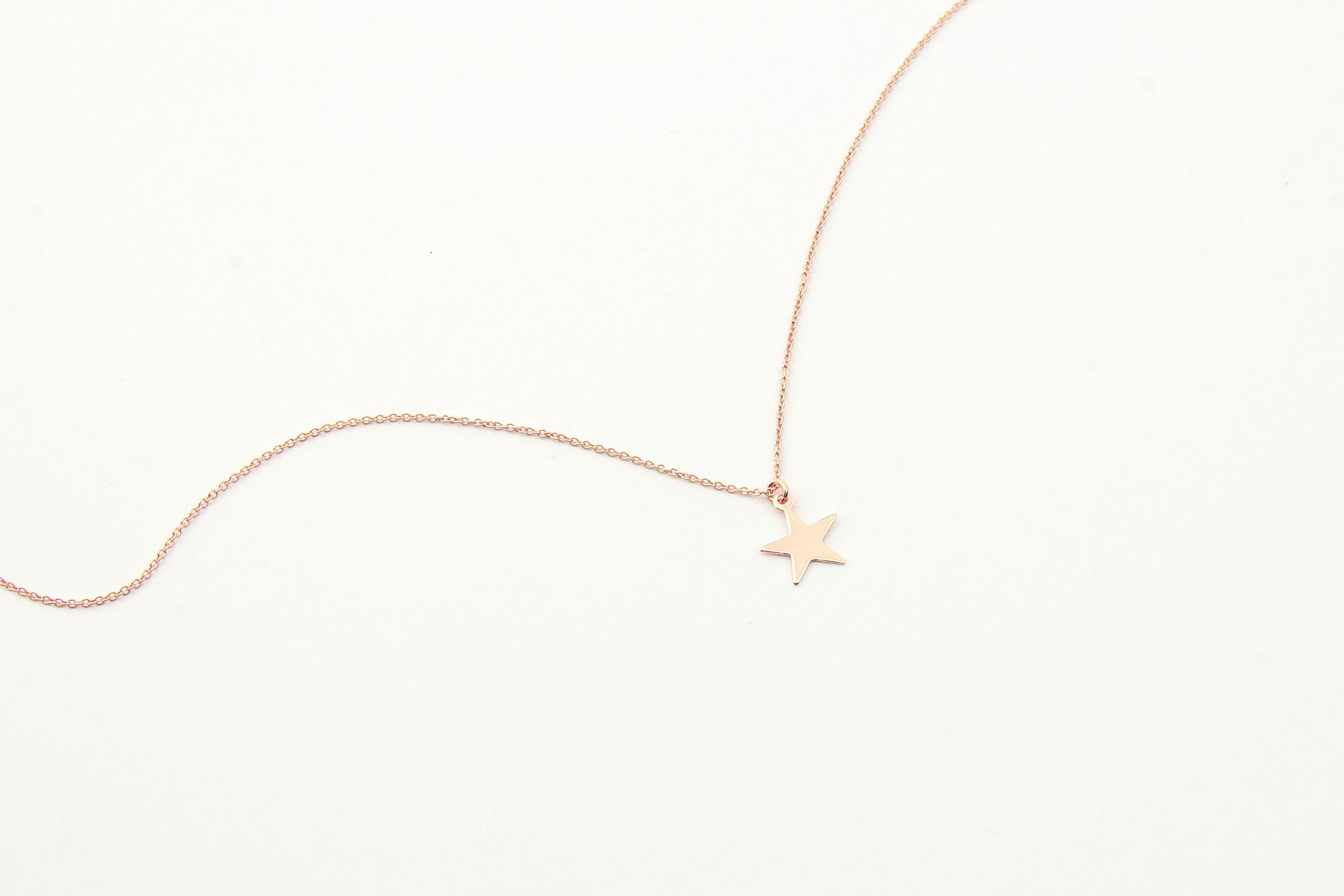 jewelberry necklace kette plain star anchor chain rose gold plated sterling silver fine jewelry handmade with love fairtrade