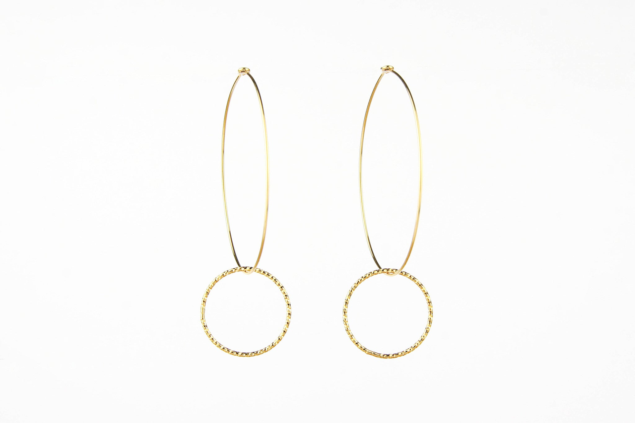 jewelberry ohrringe earrings shiny circle hoops yellow gold plated sterling silver fine jewelry handmade with love fairtrade