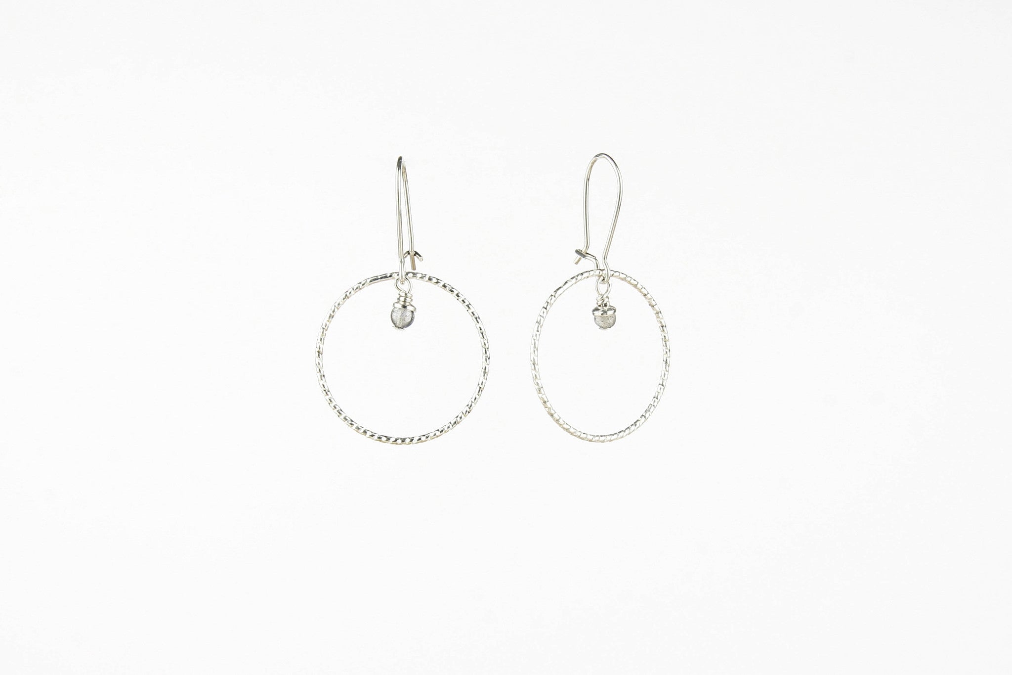 Ohrringe SHINY CIRCLE SMALL 925 Sterling Silber