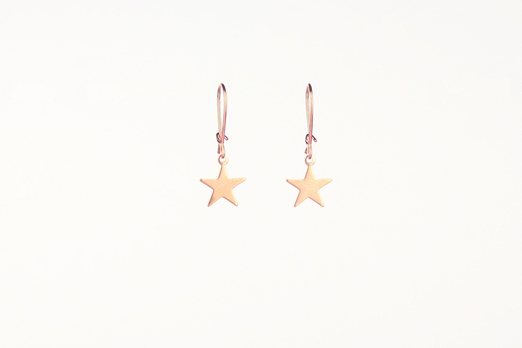 jewelberry ohrringe earrings plain star red gold plated sterling silver fine jewelry handmade with love fairtrade
