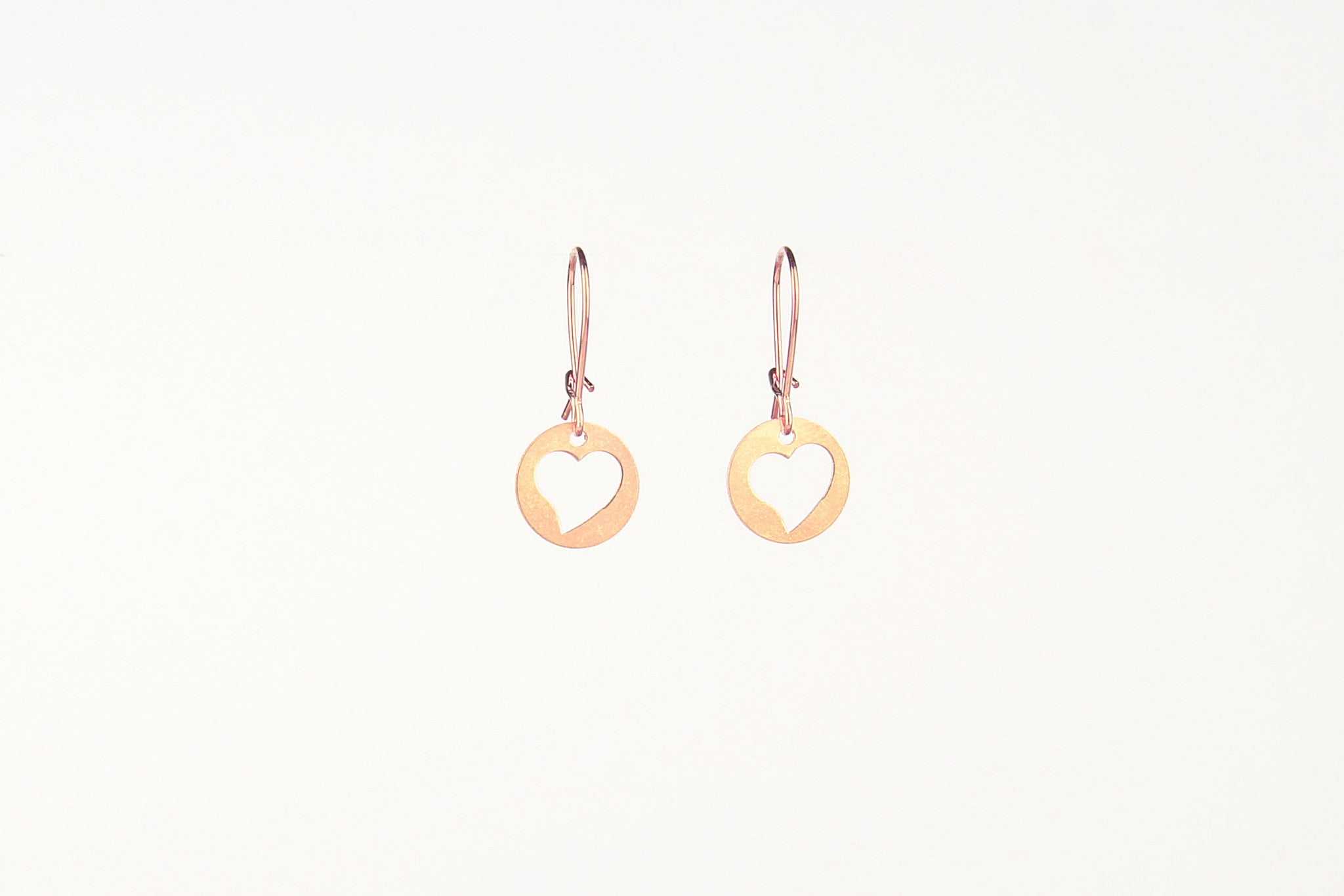 ....Ohrringe MY LOVE DISC Sterling Silber rosé vergoldet..Earrings MY LOVE DISC 925 Sterling Silver rose gold plated....