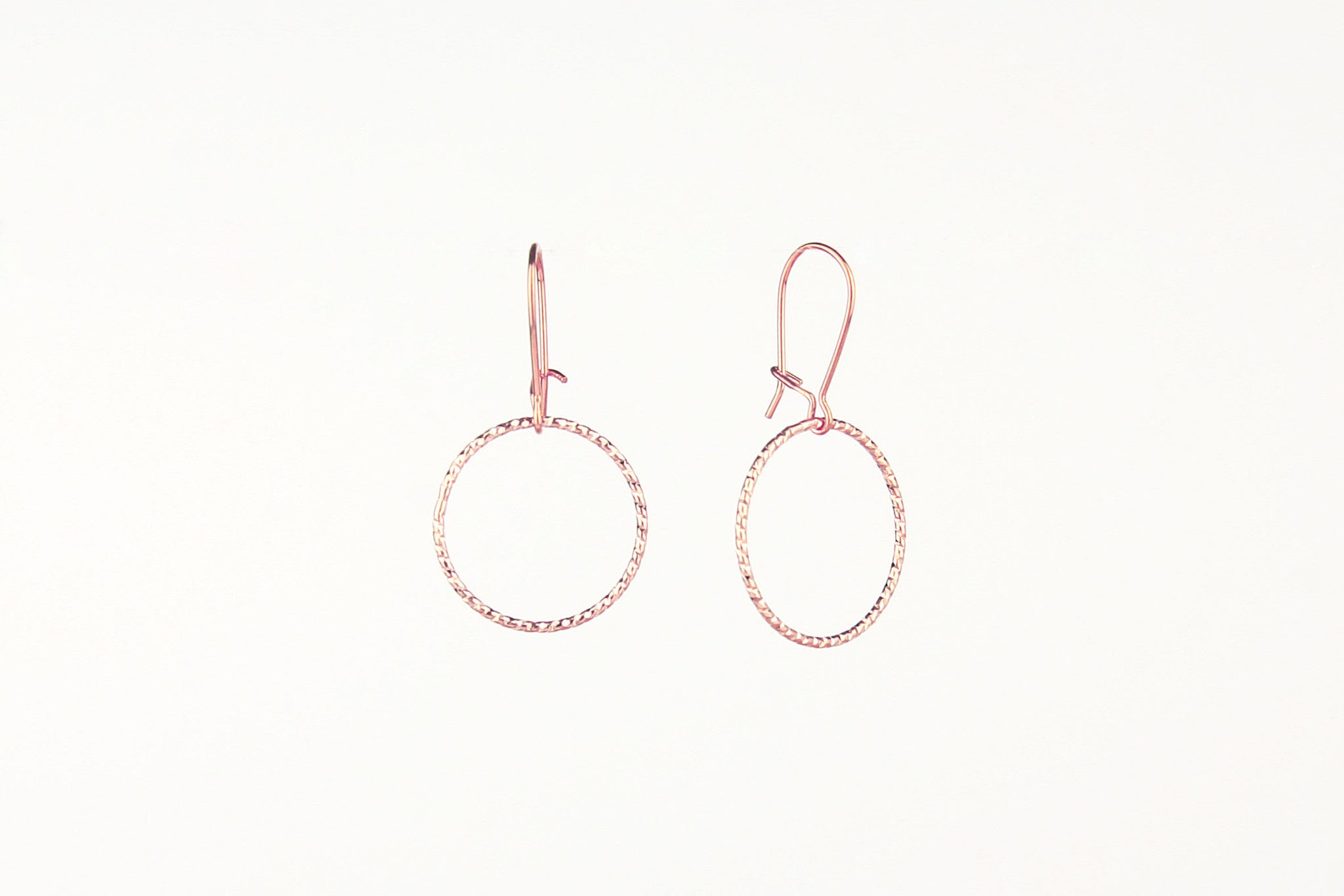 jewelberry ohrringe earrings shiny circle rose gold plated sterling silver fine jewelry handmade with love fairtrade