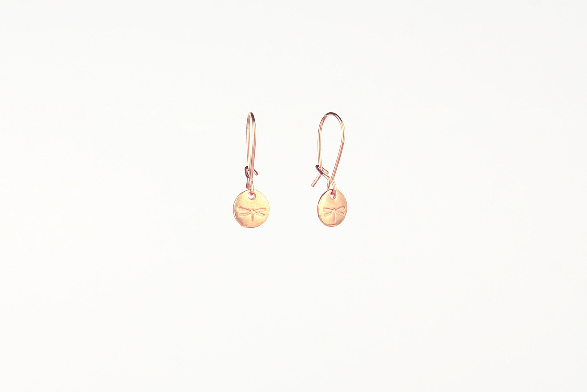 jewelberry ohrringe earrings dragonfly token rose gold plated sterling silver fine jewelry handmade with love fairtrade